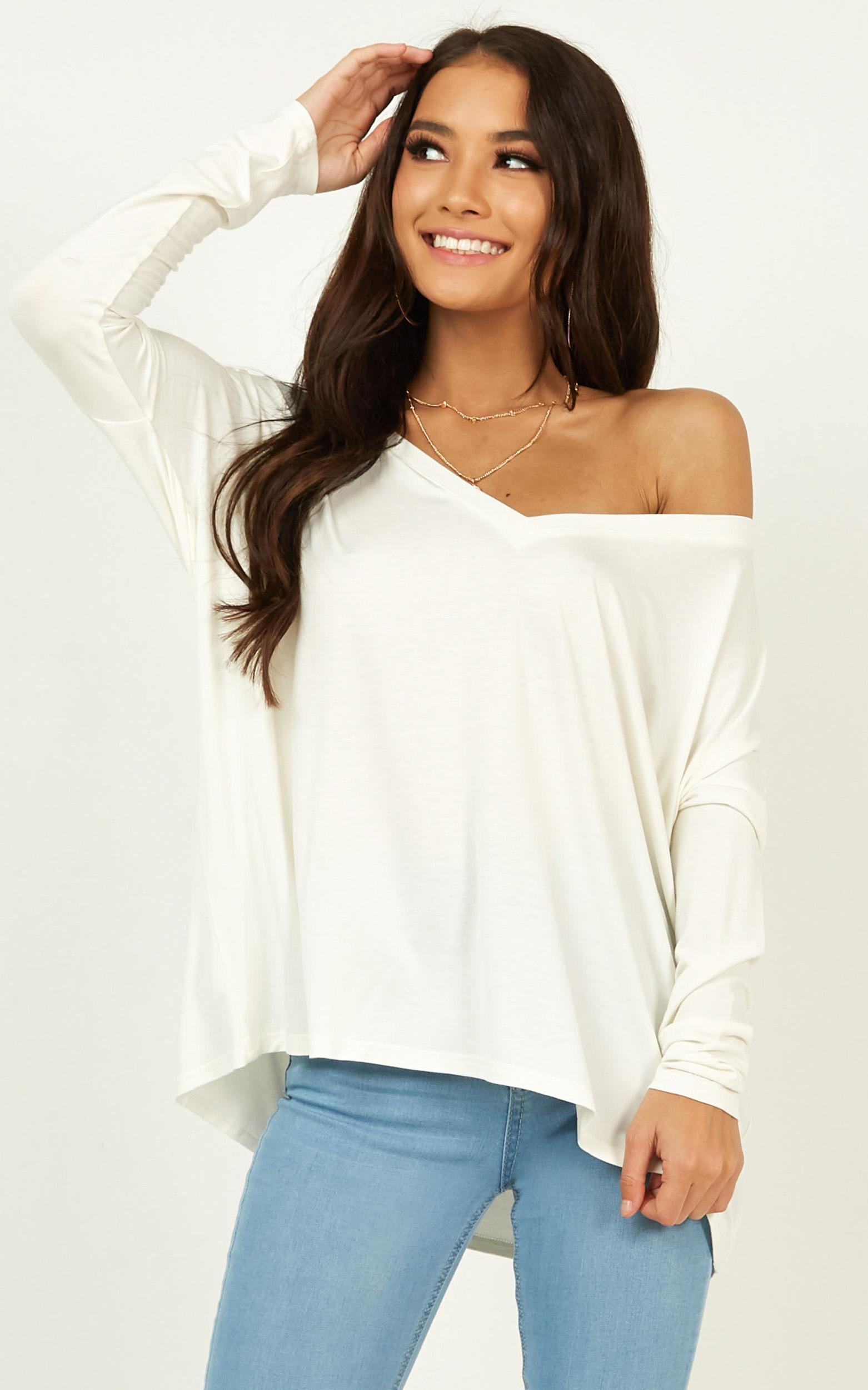 Words say it all top in white - 20 (XXXXL), White, hi-res image number null