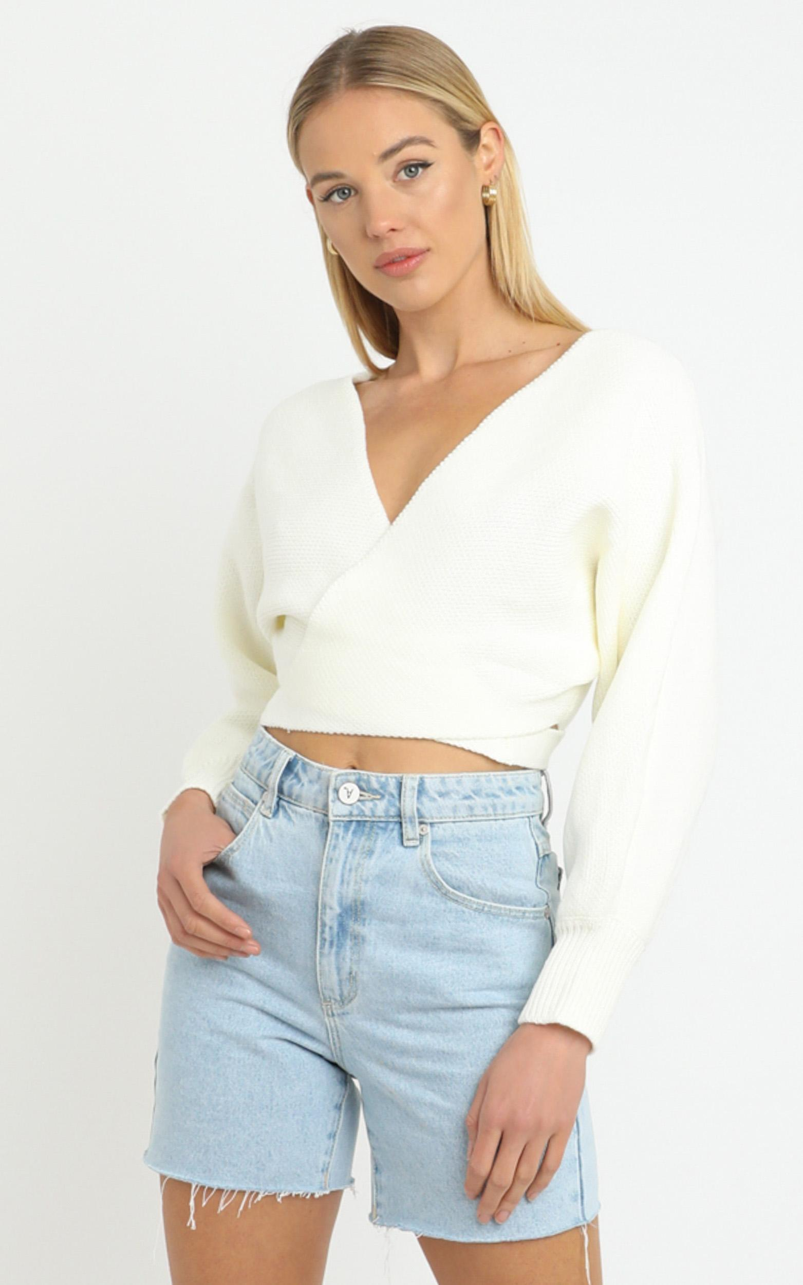 Dawn Knit Jumper in White - 14 (XL), WHT1, hi-res image number null