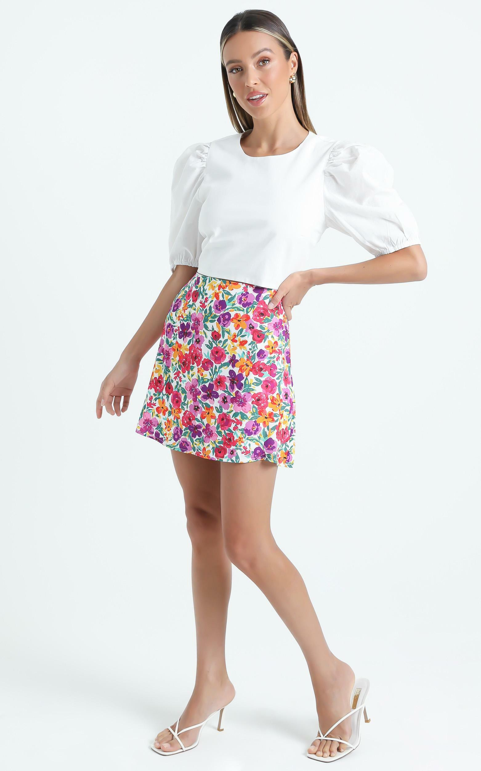 Sharnice Skirt in Packed Floral - 6 (XS), MLT1, hi-res image number null