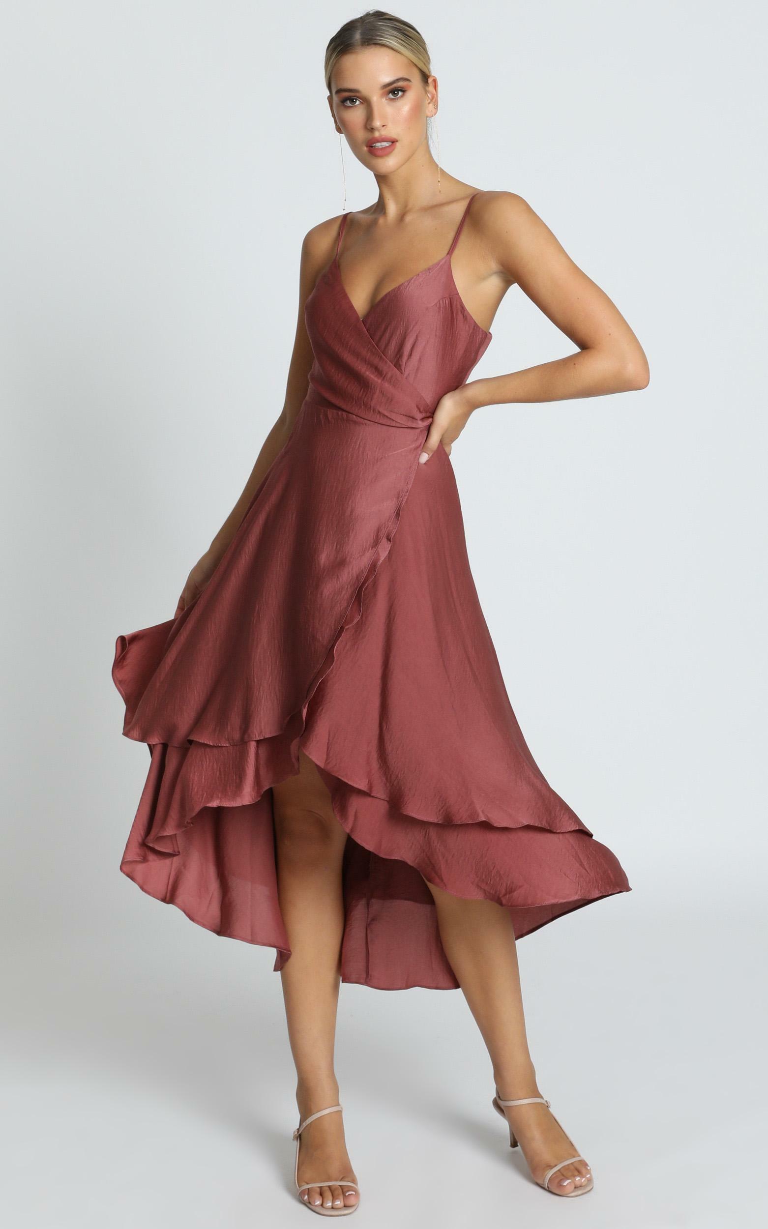 Between Fantasy Dress in dusty rose satin - 6 (XS), PNK1, hi-res image number null