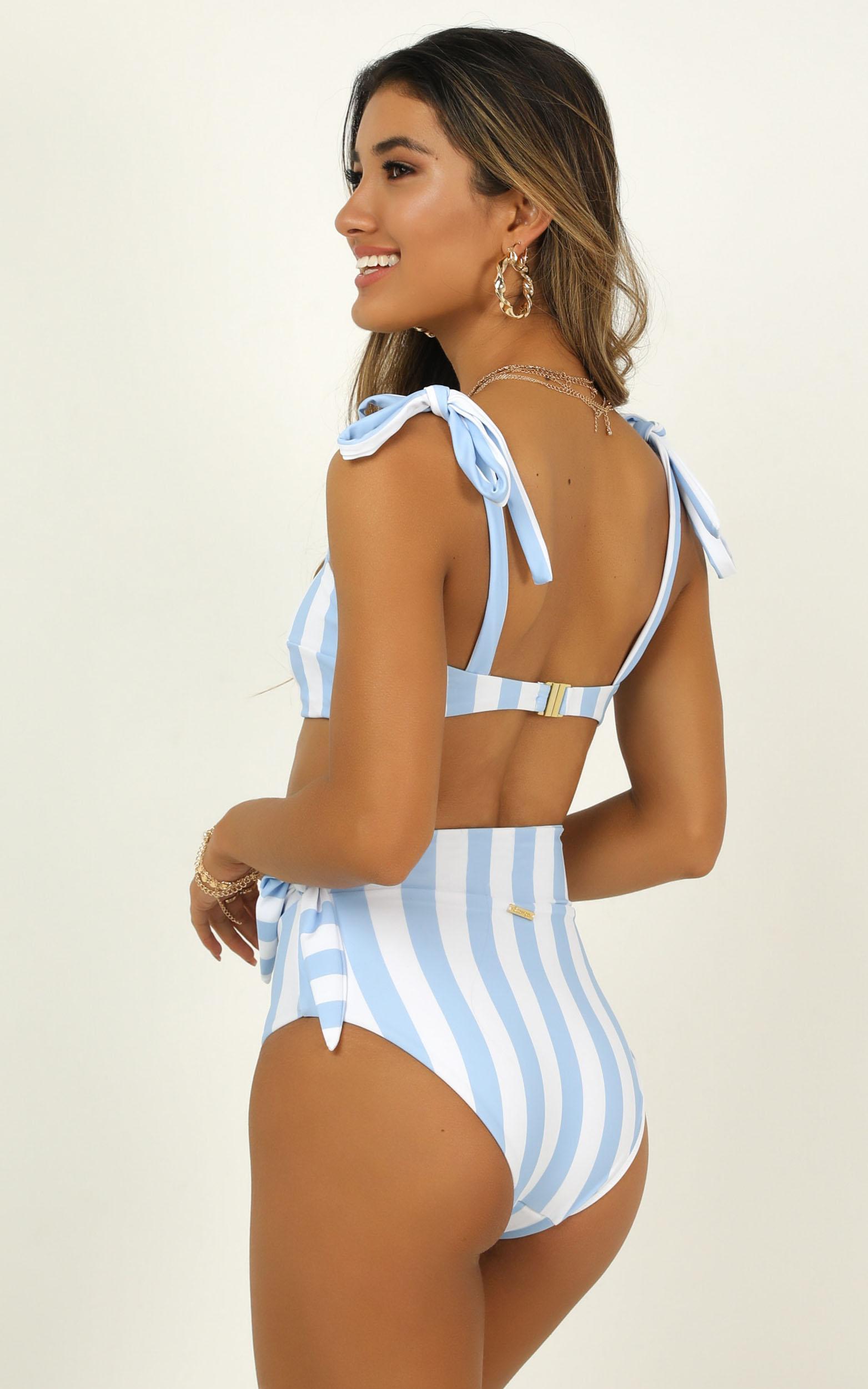 Lexie Bikini Bottom in blue stripe - 14 (XL), Blue, hi-res image number null