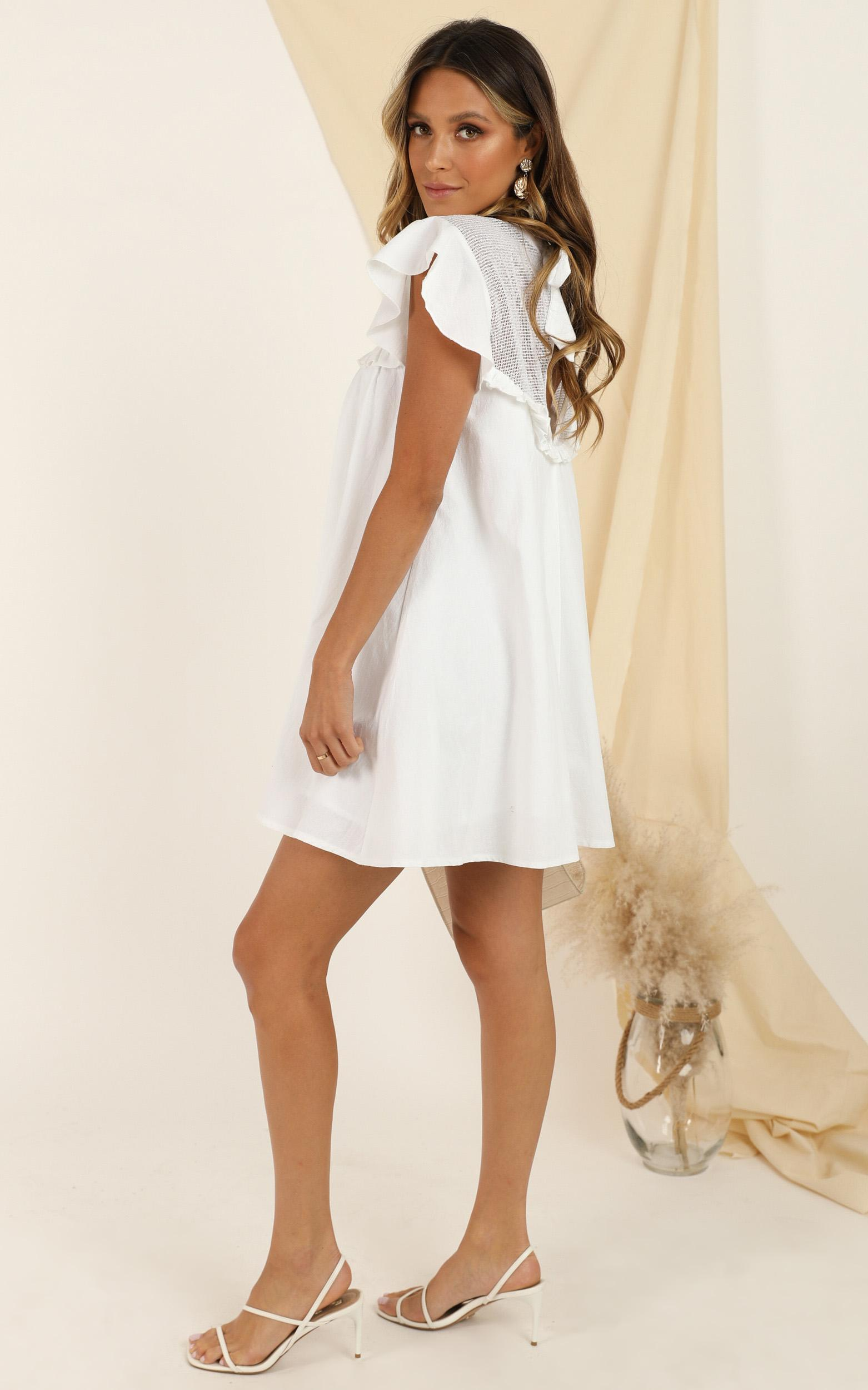 Spin The Story Dress in white - 20 (XXXXL), White, hi-res image number null