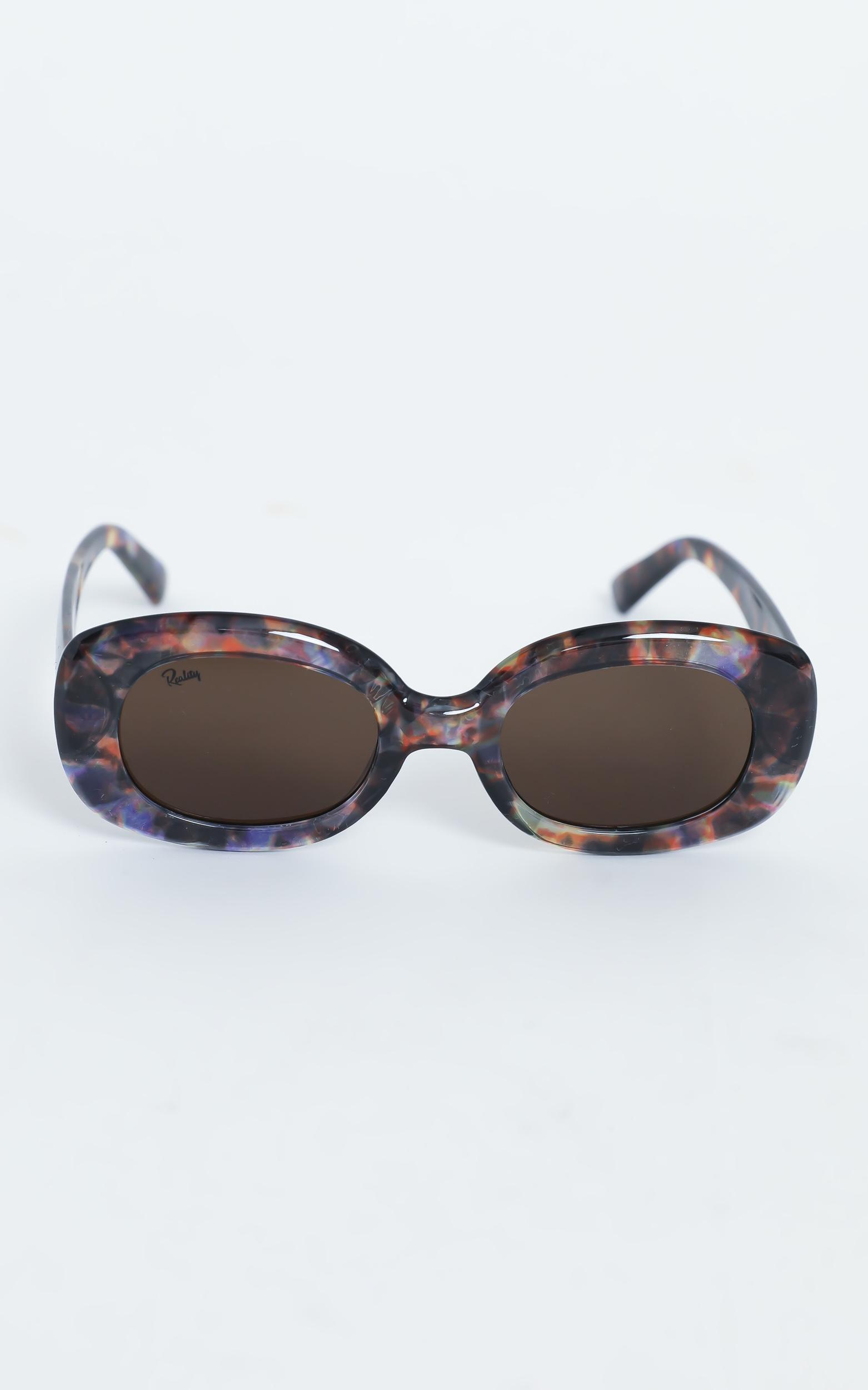 Reality Eyewear - Lady Grandzigger Sunglasses in Lilac Turtle, Purple, hi-res image number null