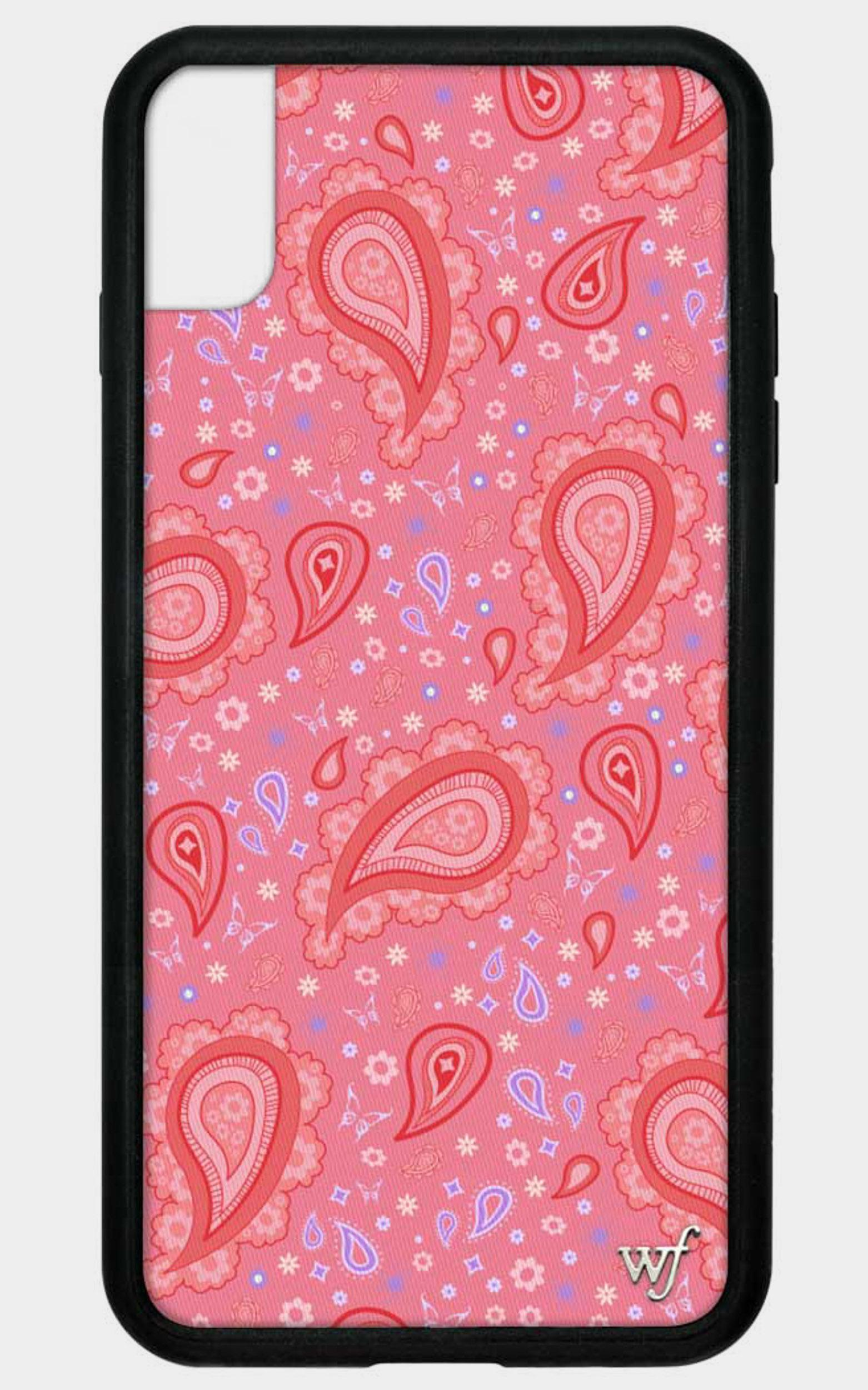 Wildflower - Iphone Case in Strawberry Paisley - 8, RED2, hi-res image number null