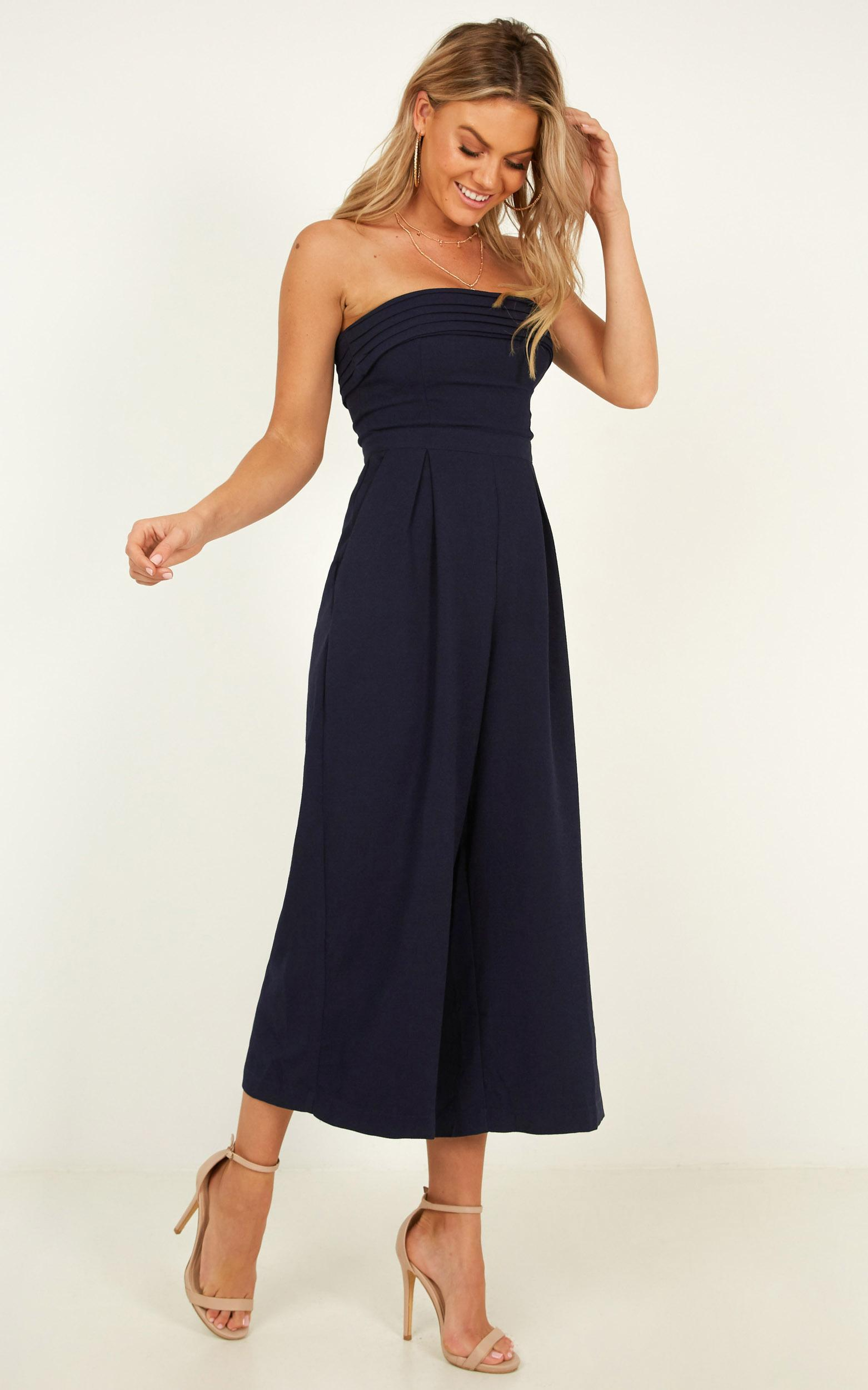 The Way You Laugh Jumpsuit In navy - 12 (L), Navy, hi-res image number null