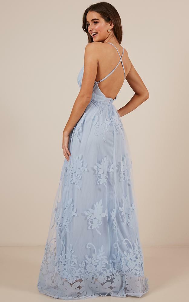 Promenade Maxi Dress in Blue - 12, BLU2, hi-res image number null