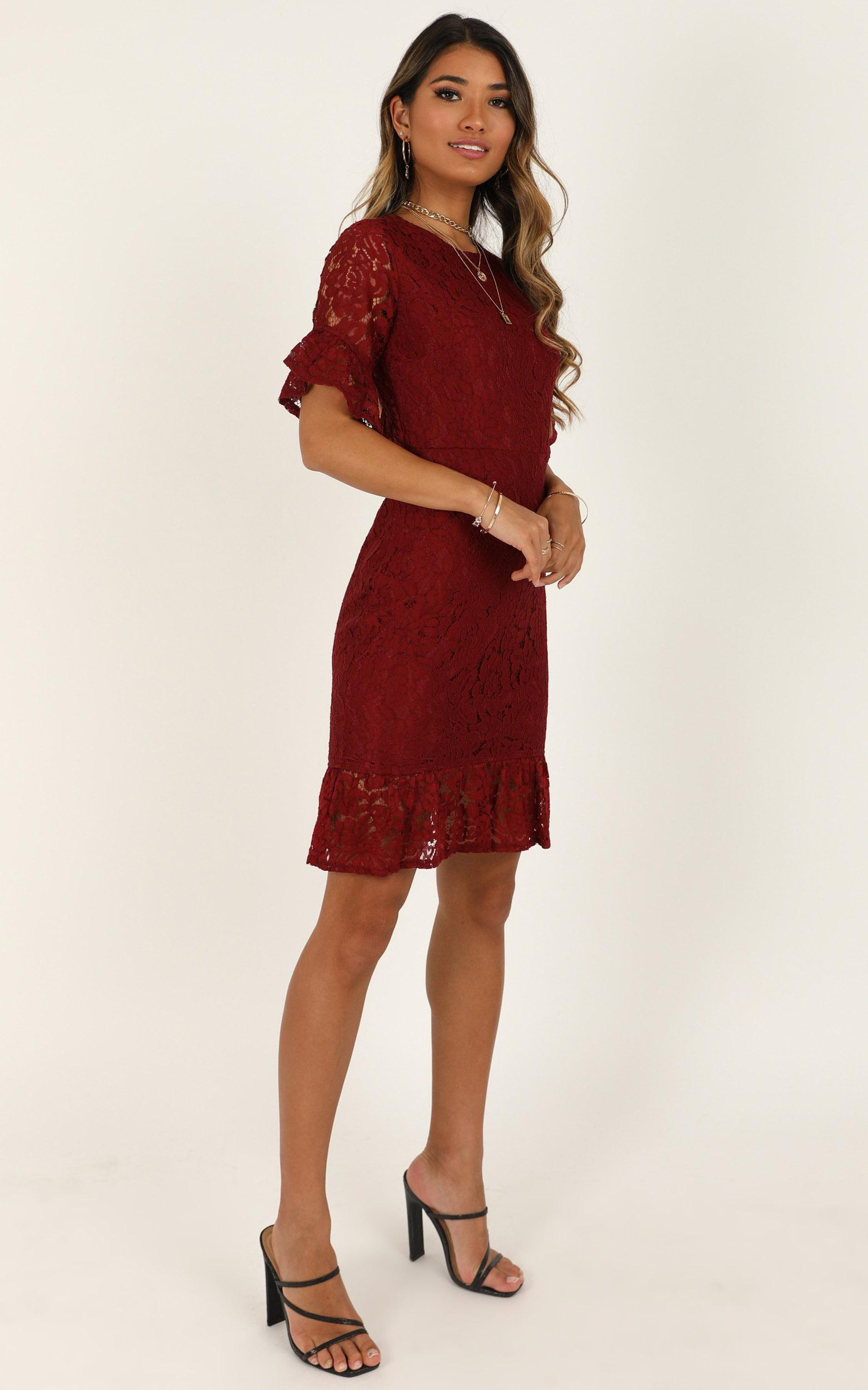 Cant Go Back Dress in wine lace - 20 (XXXXL), Wine, hi-res image number null