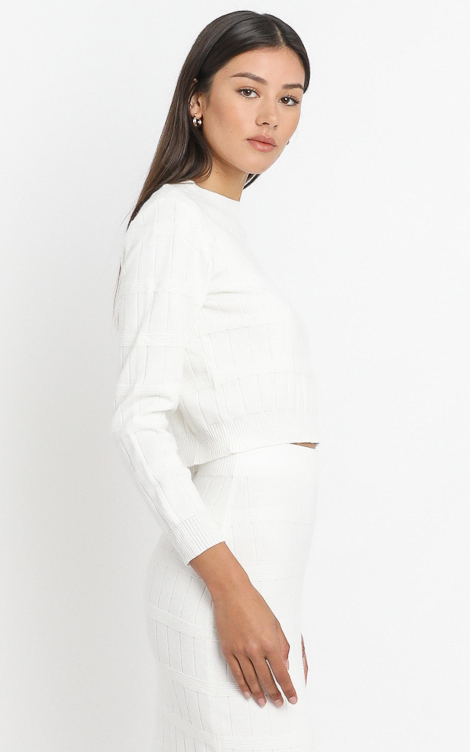 Amai Knit Top in White - 8 (S), White, hi-res image number null