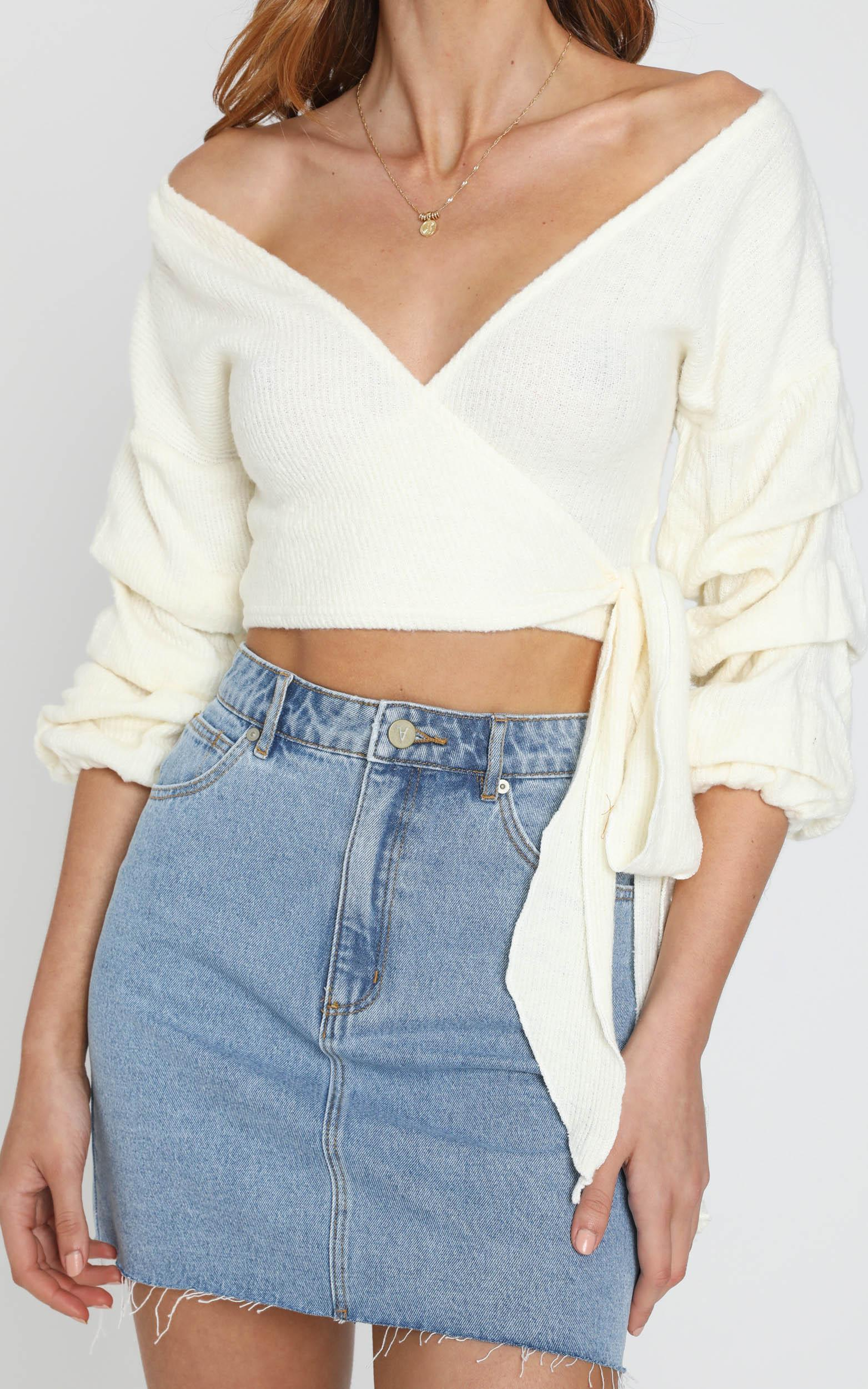 Good Decisions knit top in White - 6 (XS), White, hi-res image number null