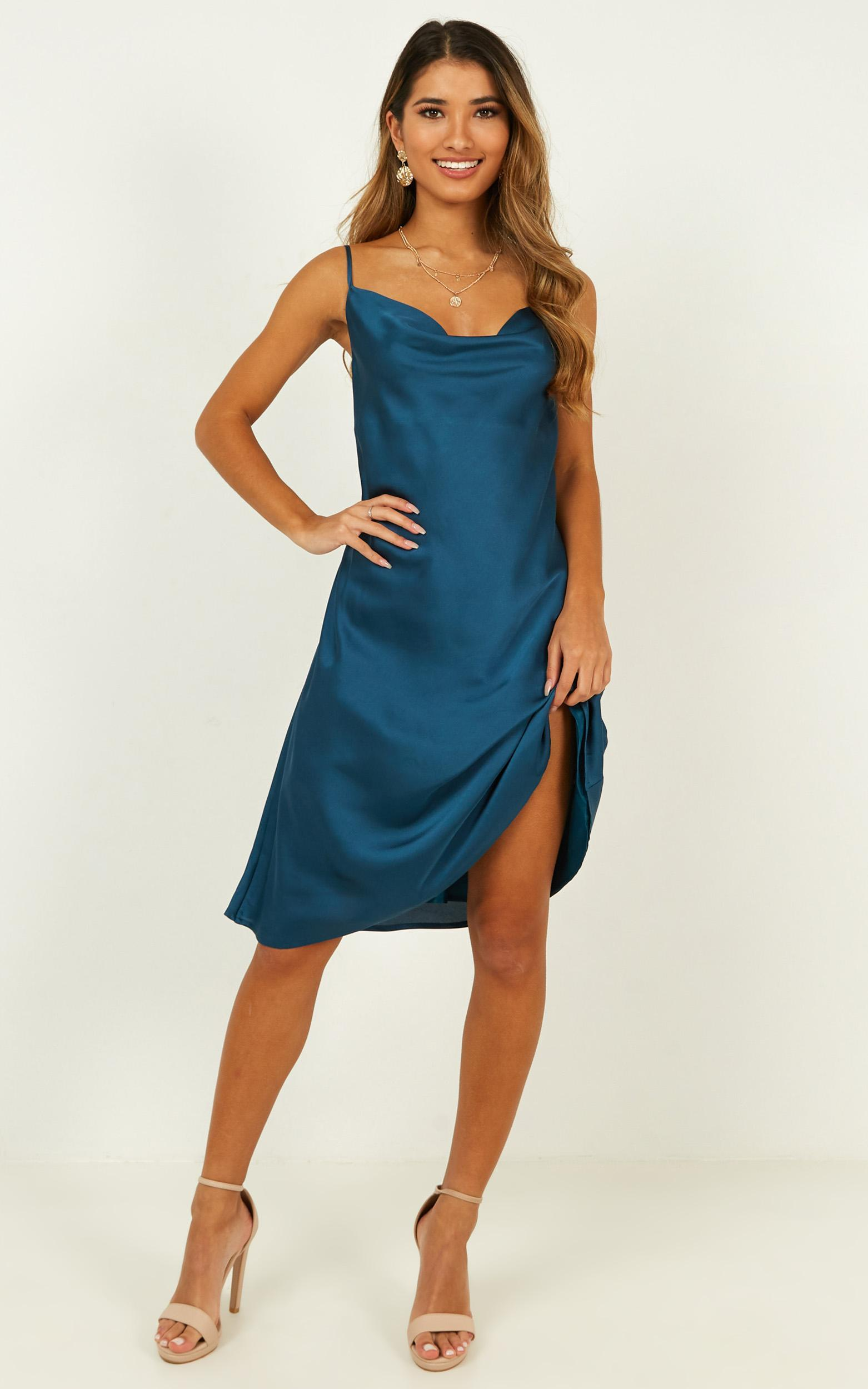 Colour me pretty dress in teal - 20 (XXXXL), Green, hi-res image number null