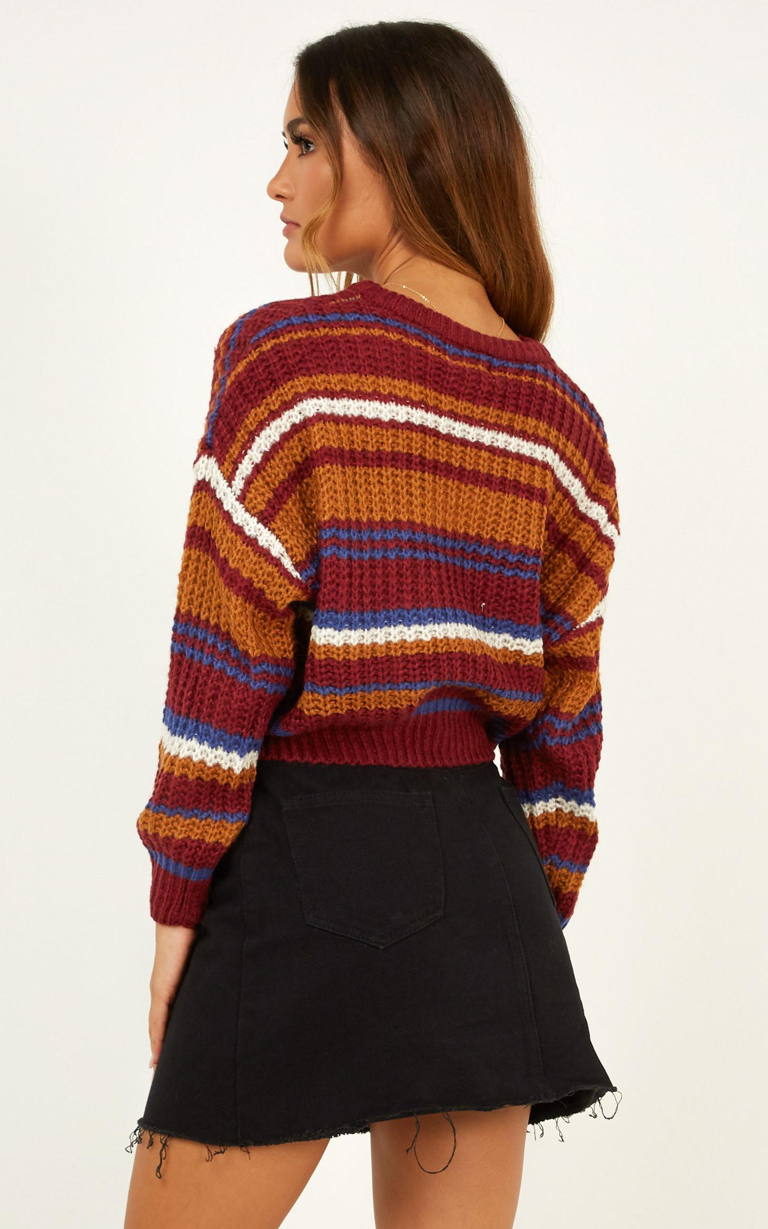 Hibernation Knit Jumper In Multi Stripe - M/L, Multi, hi-res image number null