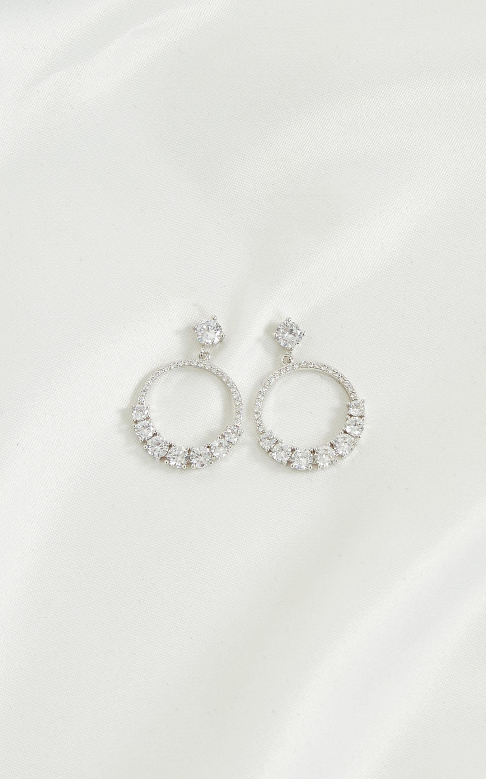 To The Point Earrings In Silver, , hi-res image number null