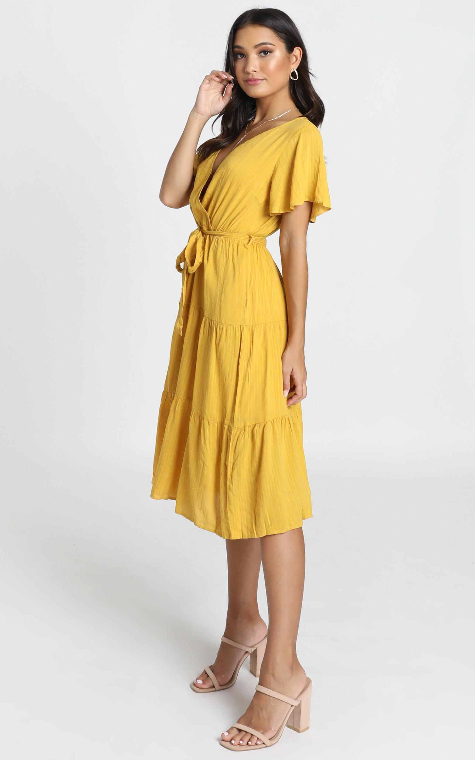 Fight The Feeling Dress in mustard - 14 (XL), Mustard, hi-res image number null