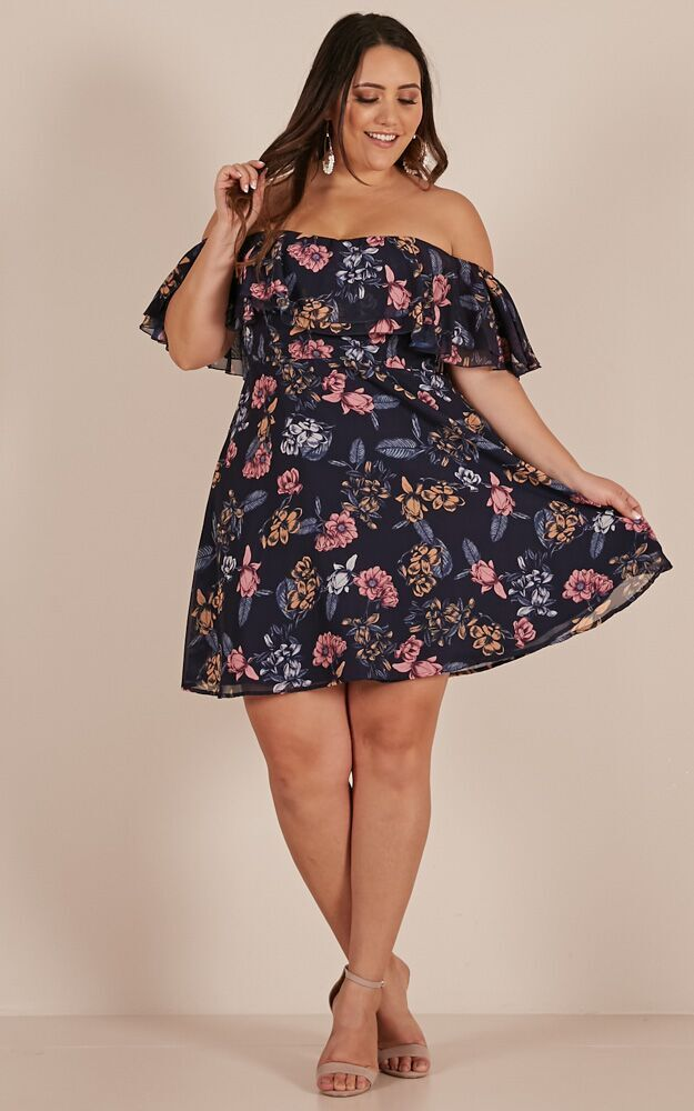 Rhapsody Dress in Navy Floral - 4 (XXS), NVY1, hi-res image number null