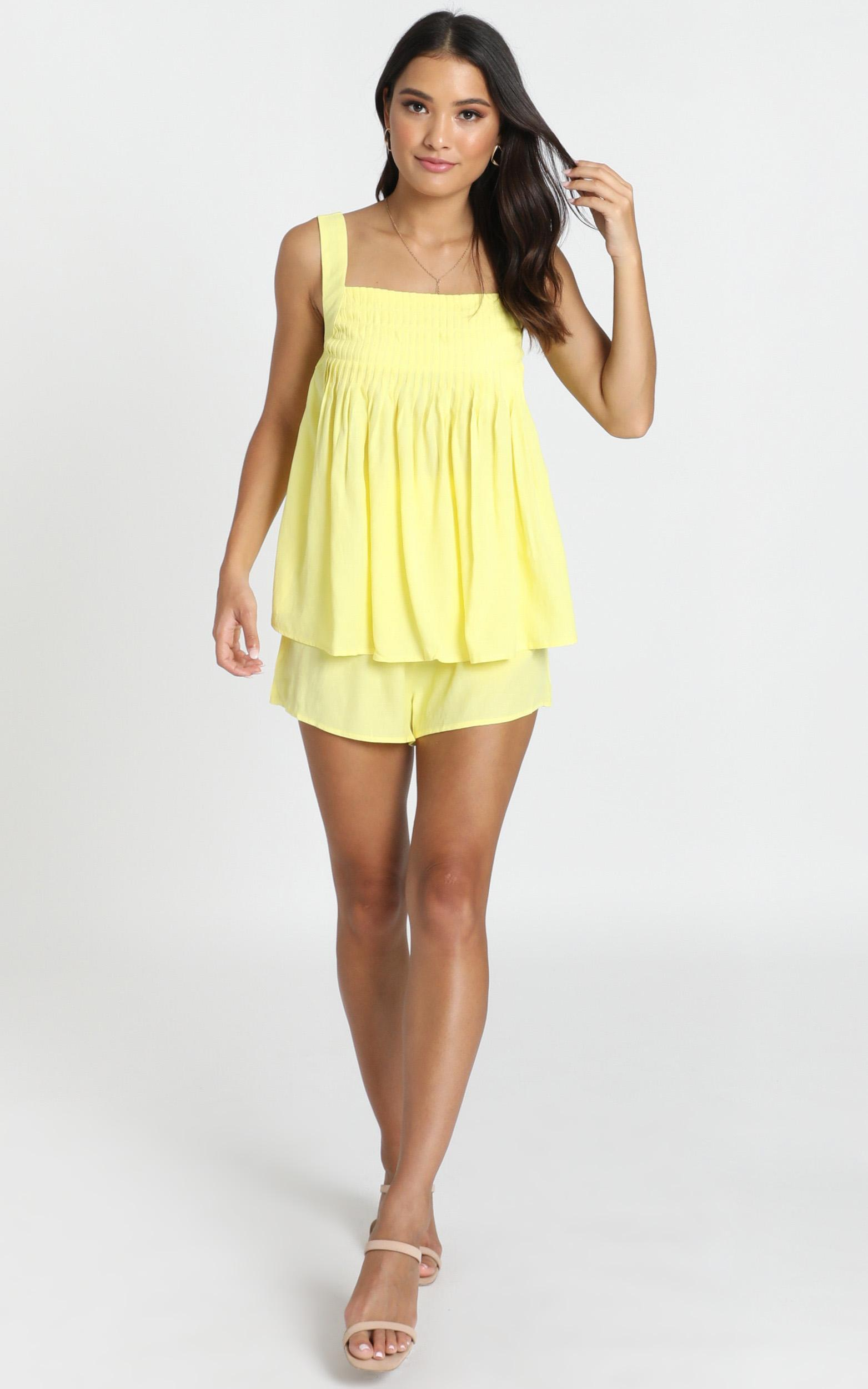 Sneak Peak Two Piece Set in yellow - 12 (L), Yellow, hi-res image number null