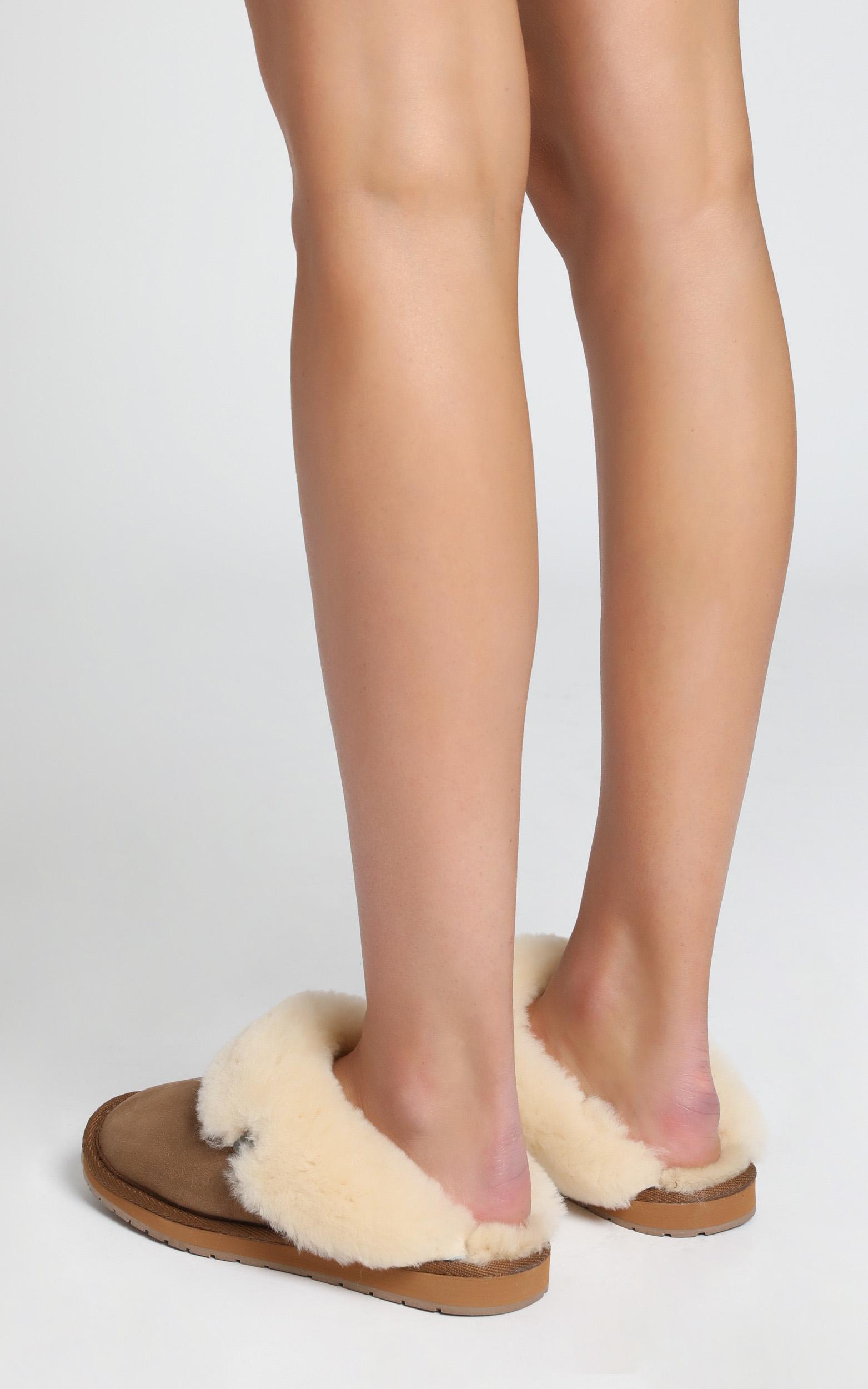 EMU Australia - Platinum Eden Slippers in Chestnut - 5, Camel, hi-res image number null