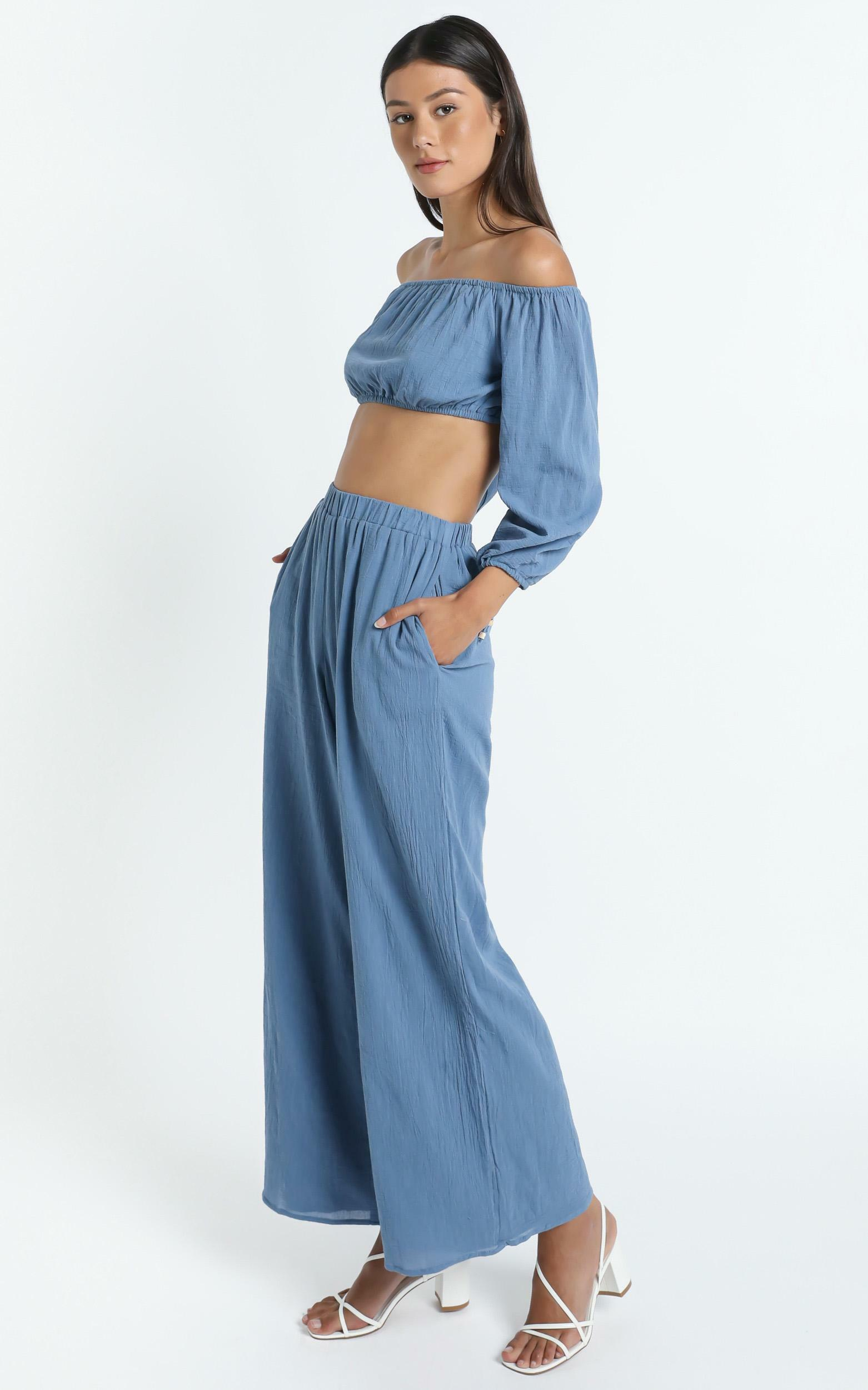 Citra Two Piece Set in Blue - 14 (XL), Blue, hi-res image number null