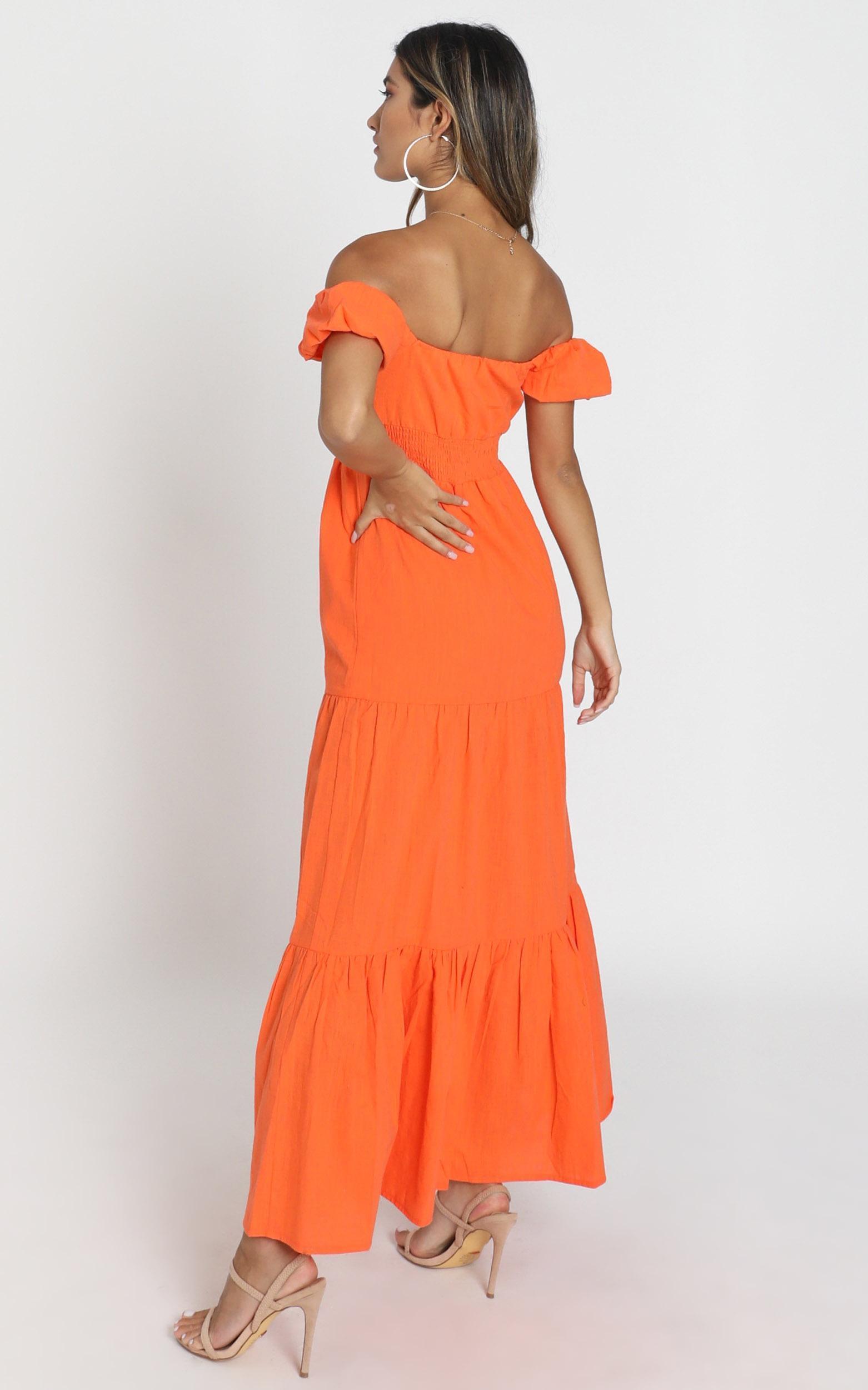 Island Hopper Dress in orange - 6 (XS), Orange, hi-res image number null