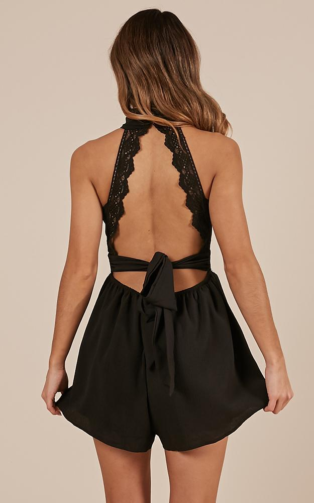 All Over You Playsuit in black - 20 (XXXXL), Black, hi-res image number null