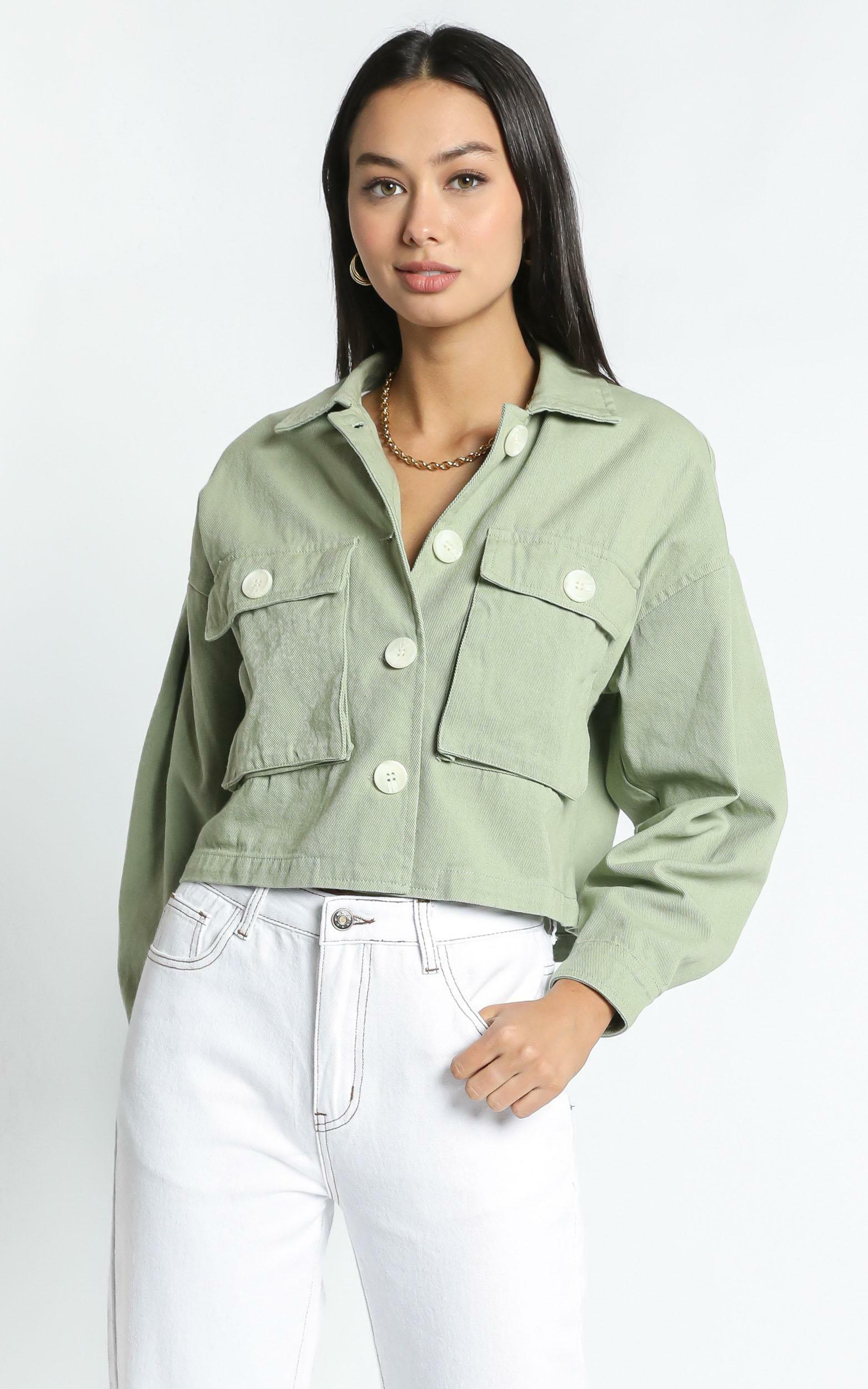 Maygan Jacket in Sage - 14 (XL), GRN1, hi-res image number null