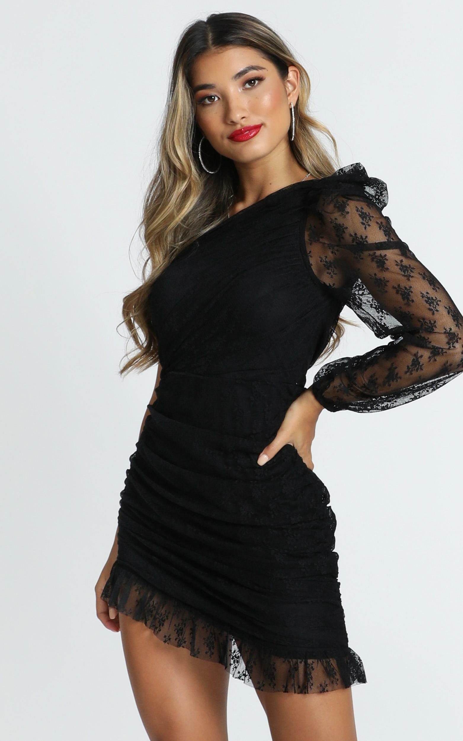 Its A Game dress in black lace - 16 (XXL), Black, hi-res image number null
