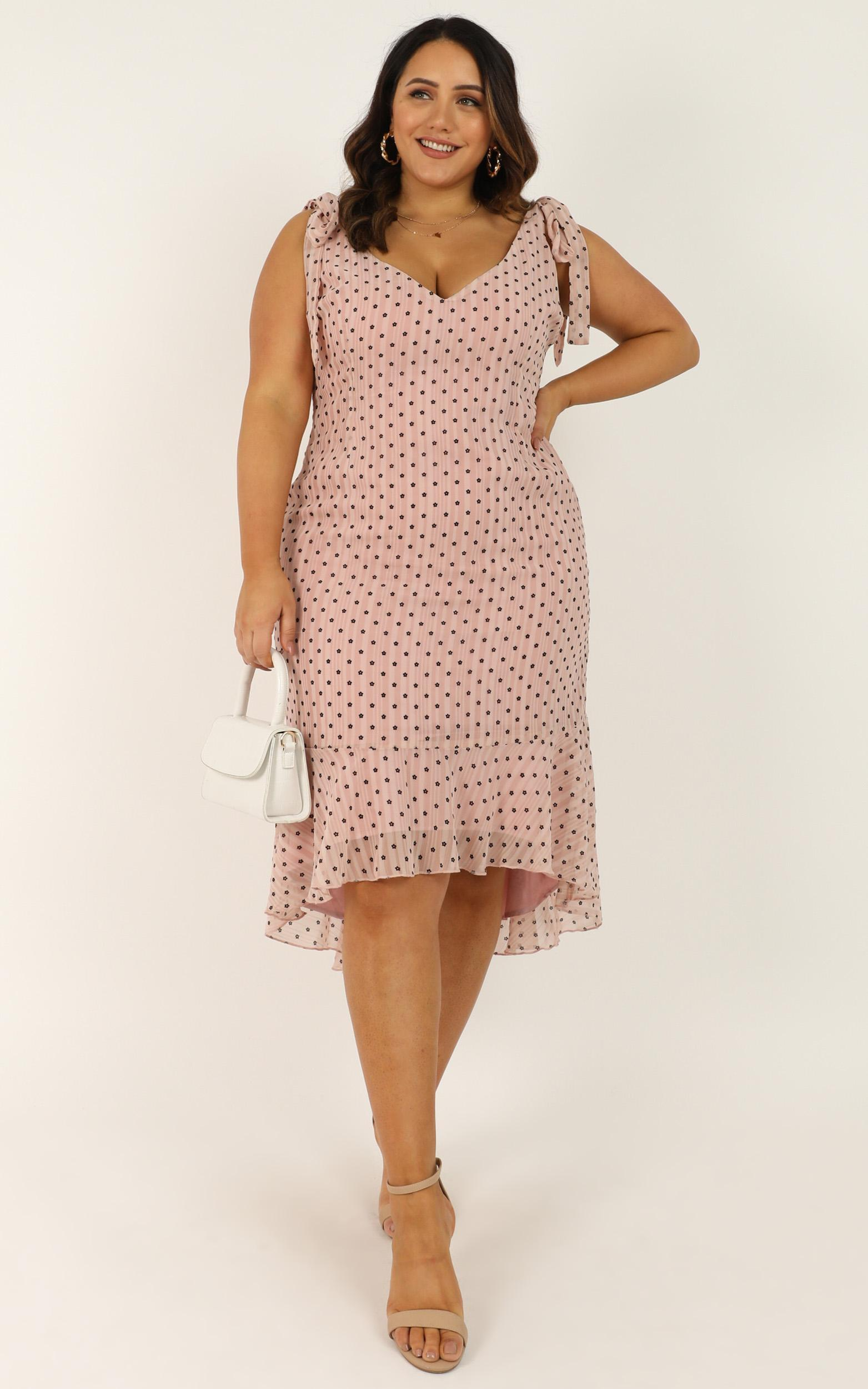 Successful Dress in blush flock - 16 (XXL), Blush, hi-res image number null