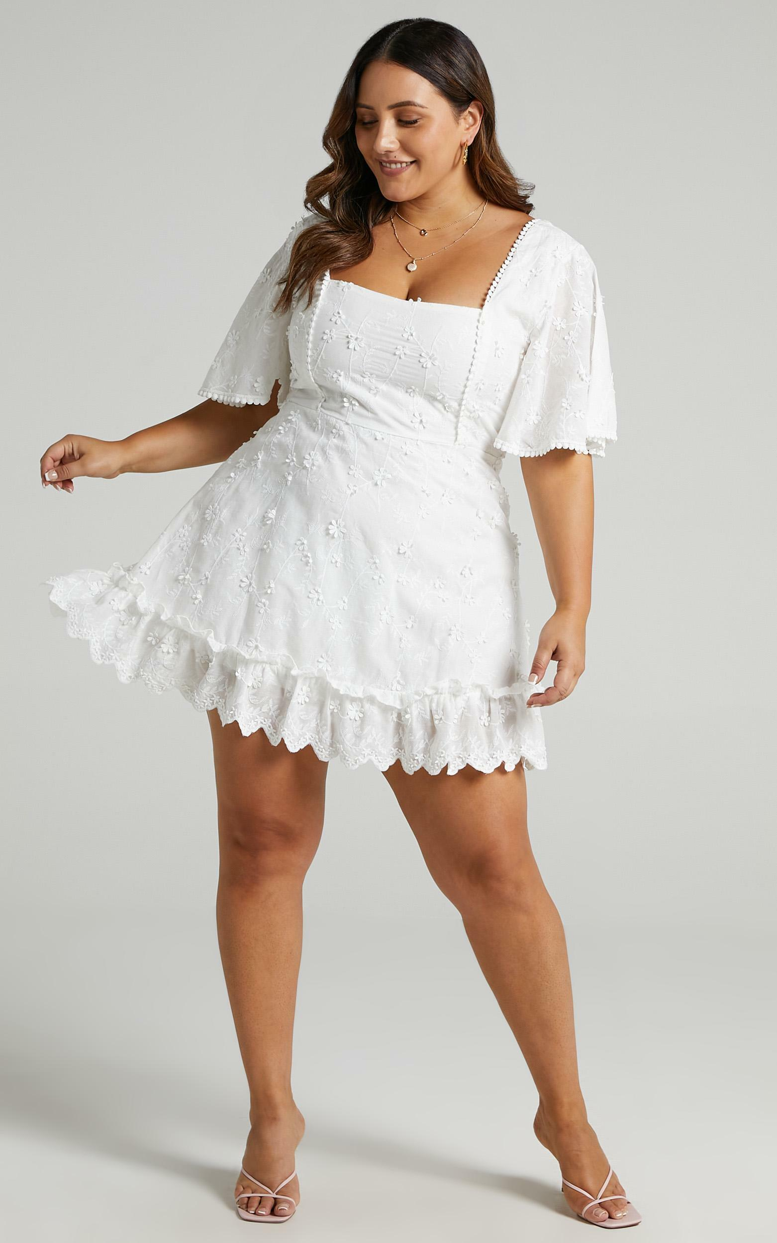 Fancy A Spritz Dress in White Embroidery - 18, WHT3, hi-res image number null