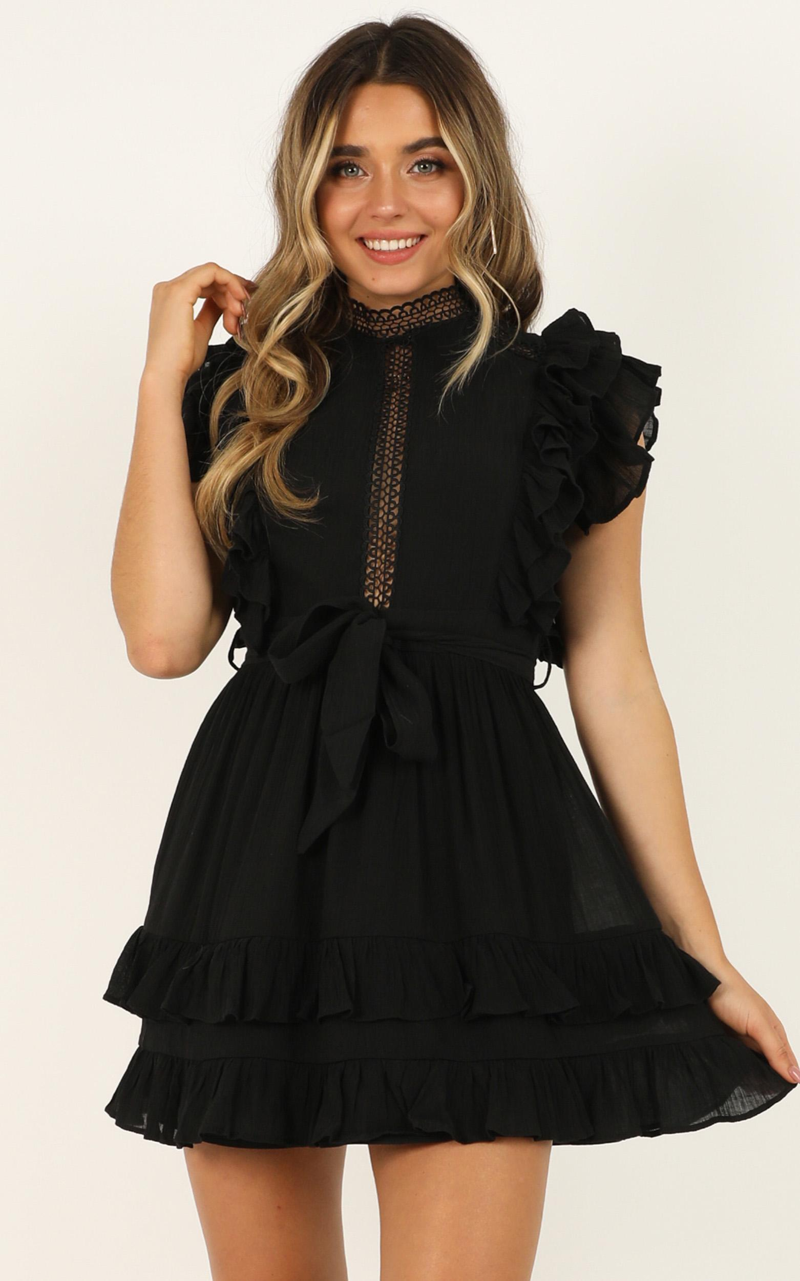 Tell Me Later dress in black - 12 (L), Black, hi-res image number null