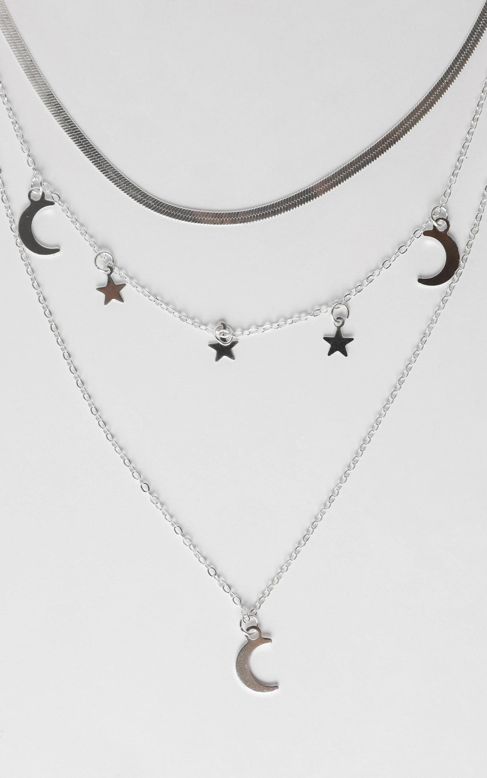 Cosmo Layered Necklace in Silver, , hi-res image number null