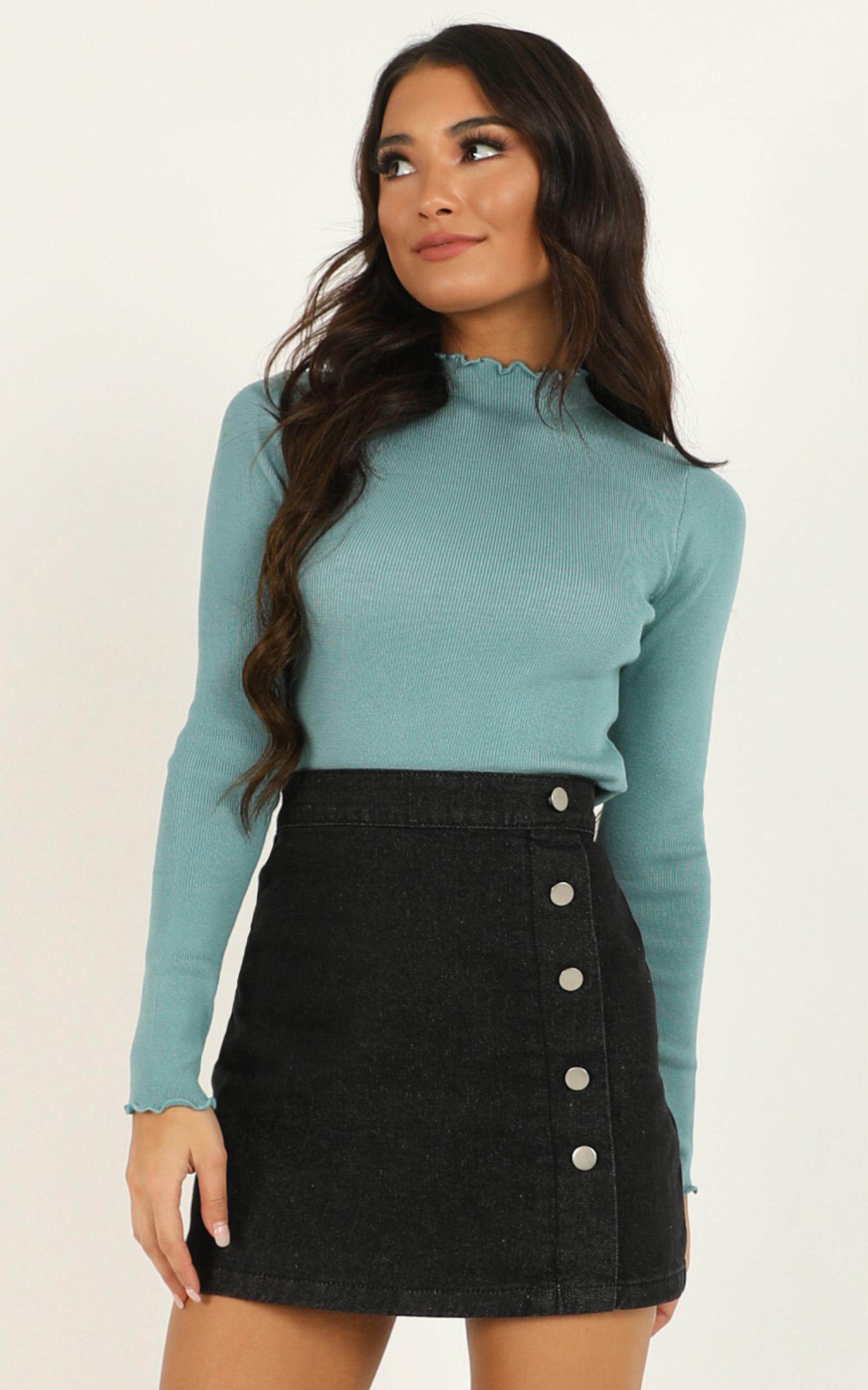 Adrenaline Junkie Knit Top in teal - 20 (XXXXL), Green, hi-res image number null
