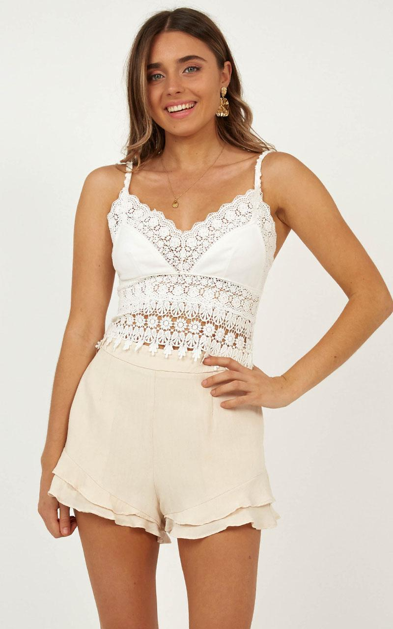 Love Maze top in white lace - 12 (L), White, hi-res image number null