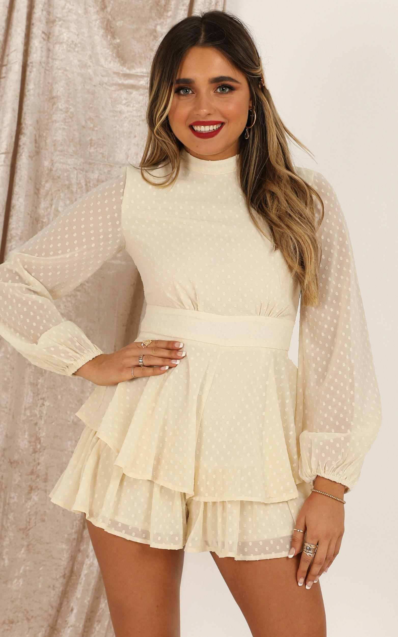 Bottom Of Your Heart Playsuit in cream - 20 (XXXXL), Cream, hi-res image number null