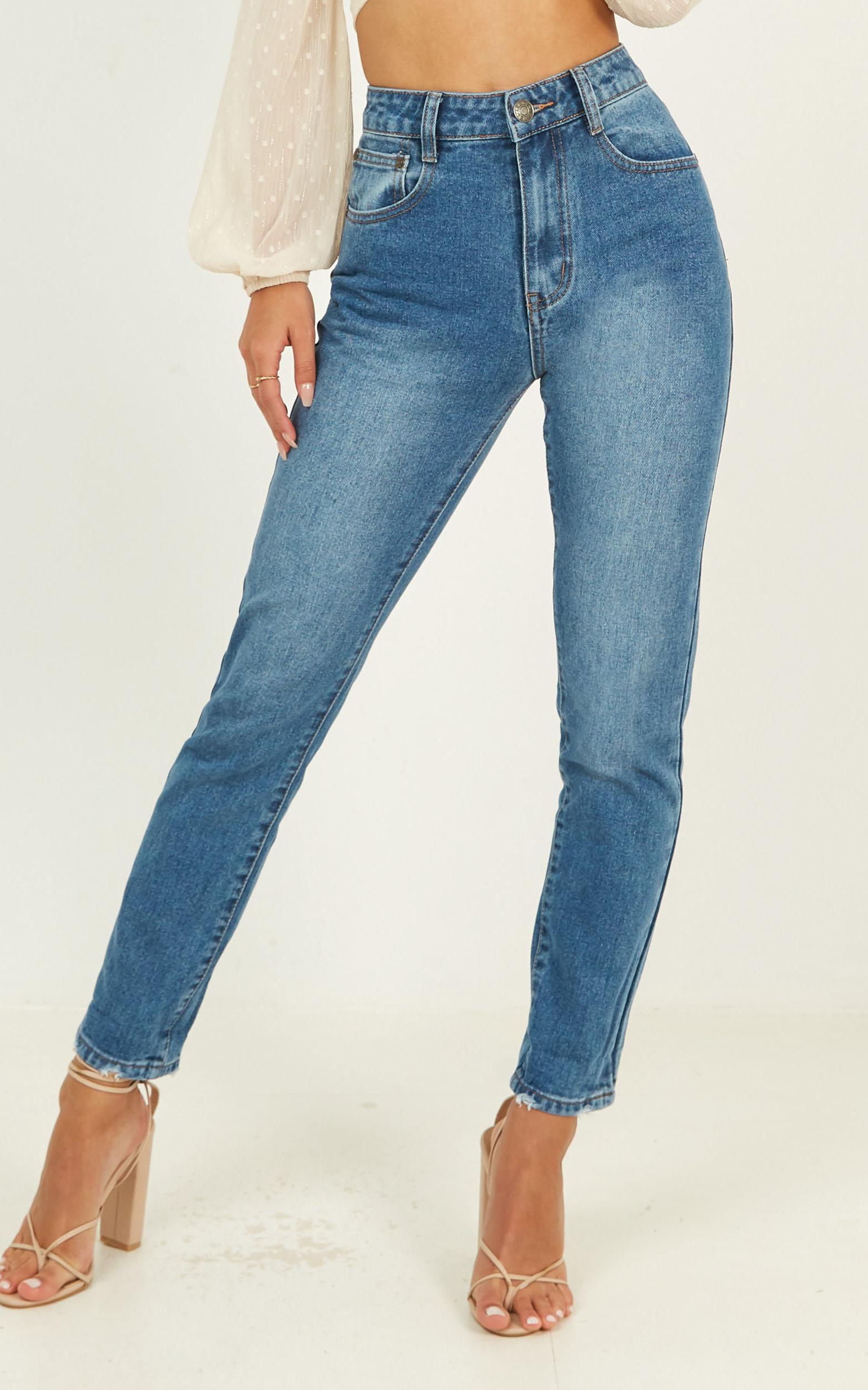 Remy Jeans in mid wash denim - 14 (XL), Blue, hi-res image number null