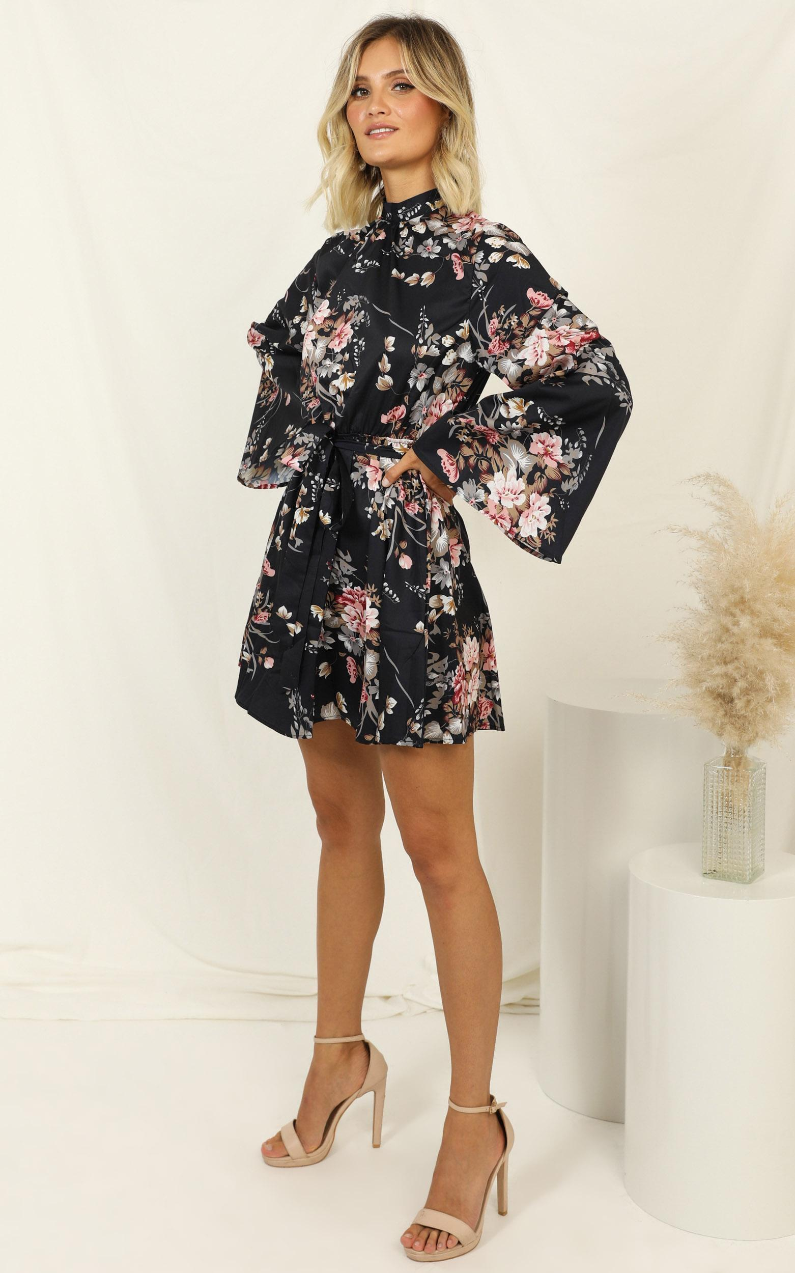 Another Setback dress in navy floral - 14 (XL), Navy, hi-res image number null
