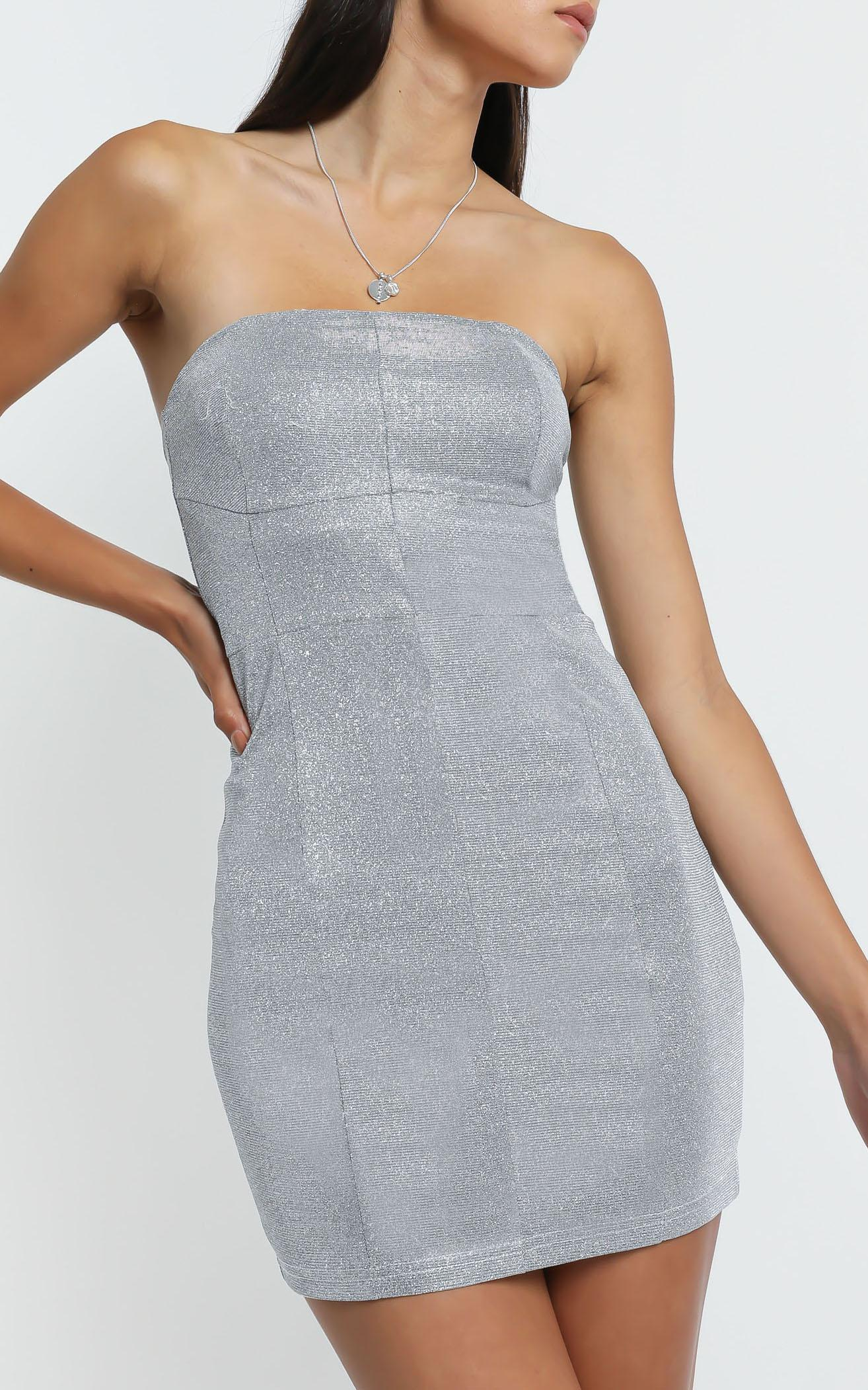 Diva Dress in Silver - 6 (XS), Silver, hi-res image number null