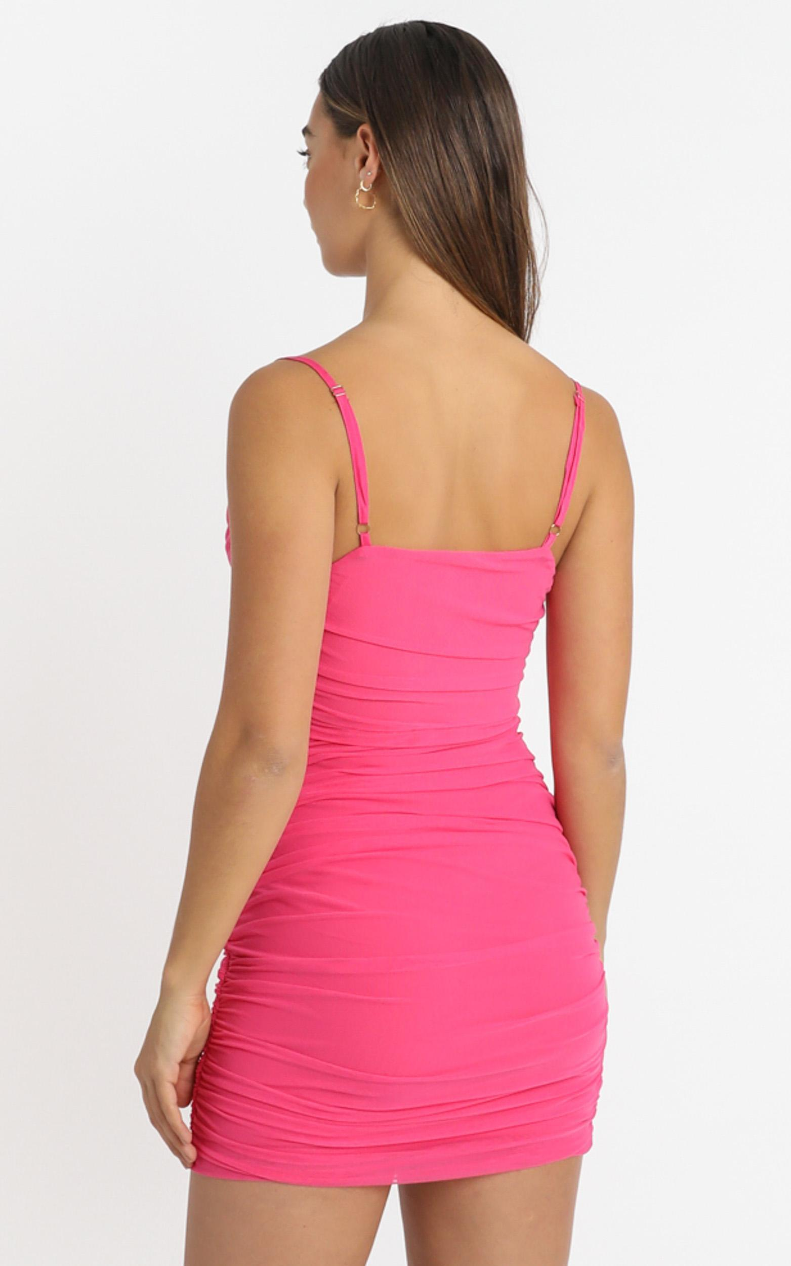 Baby You Got That Glow Dress in hot pink mesh - 4 (XXS), Pink, hi-res image number null