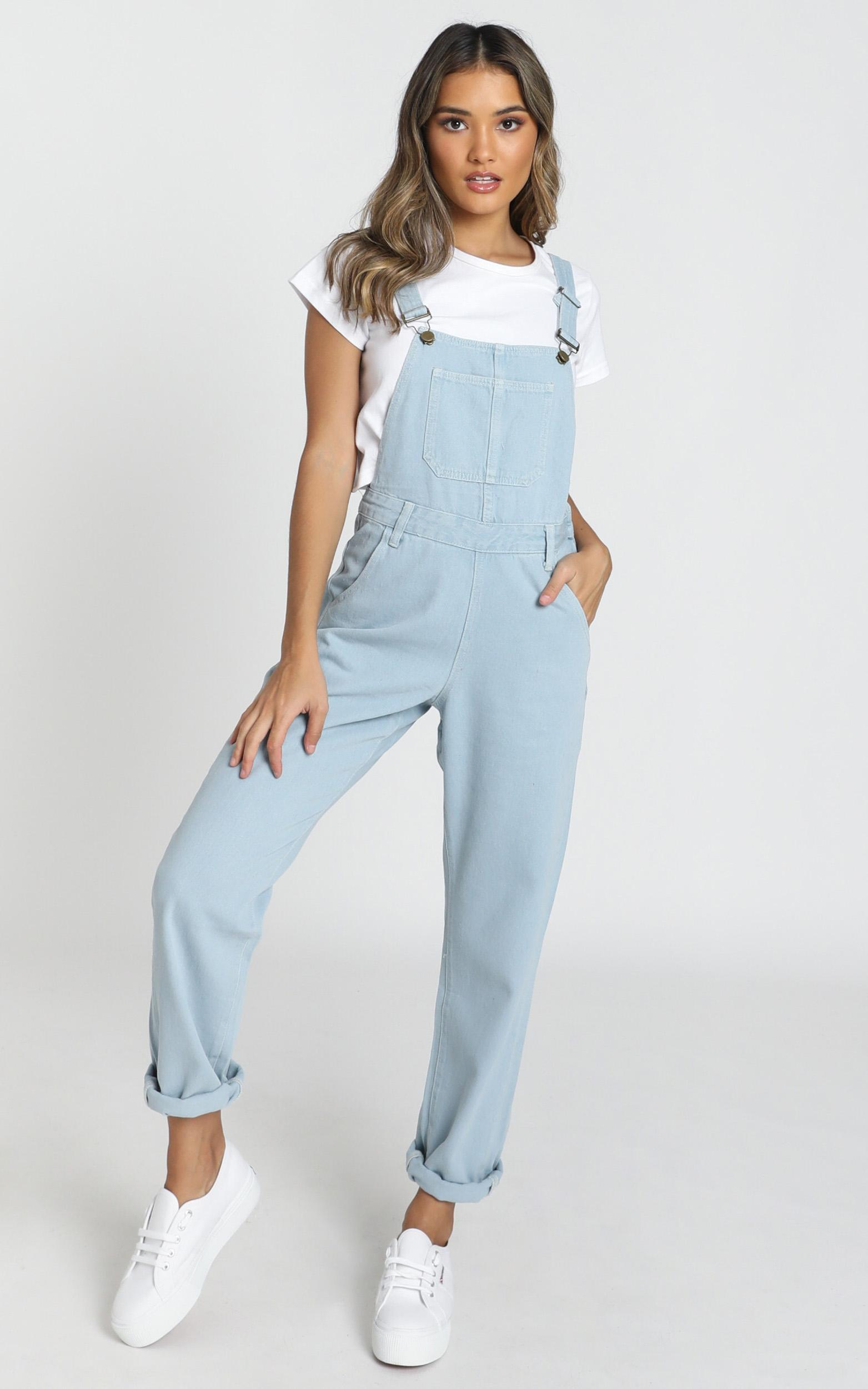 Kiera Denim Overalls in blue wash - 20 (XXXXL), Blue, hi-res image number null