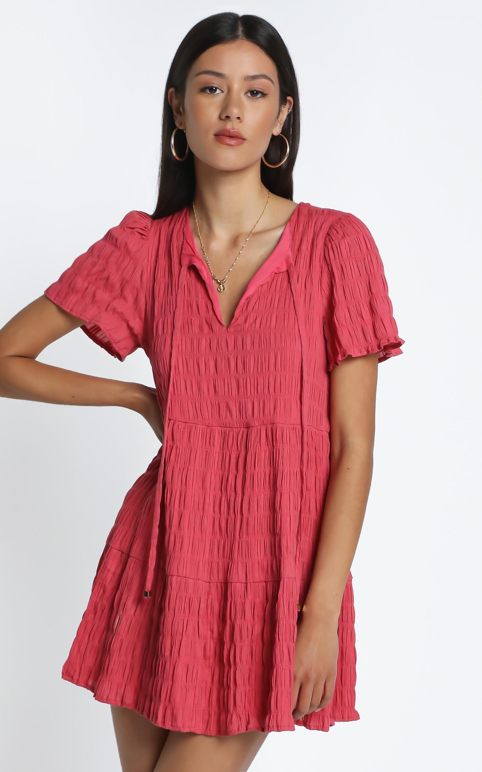 Serra Dress in Watermelon - 14 (XL), Pink, hi-res image number null