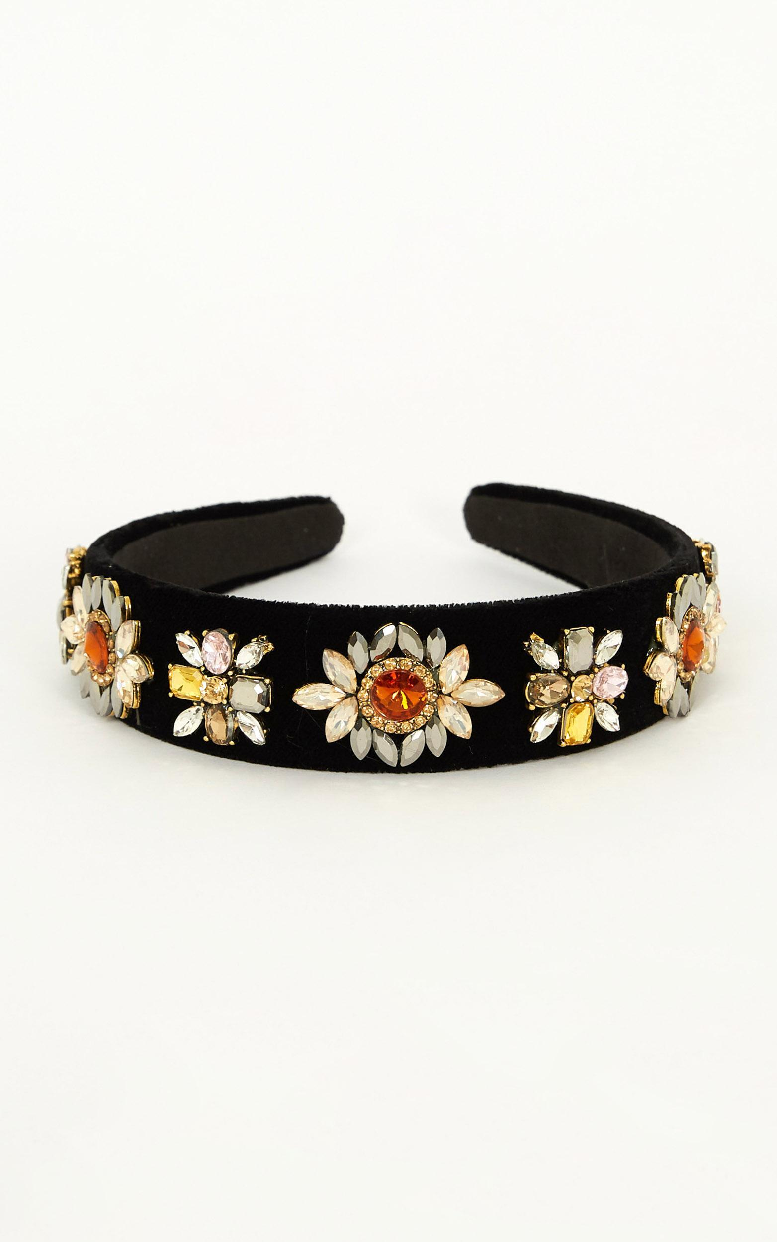 What Now Headband In Black And Rose Gold, , hi-res image number null