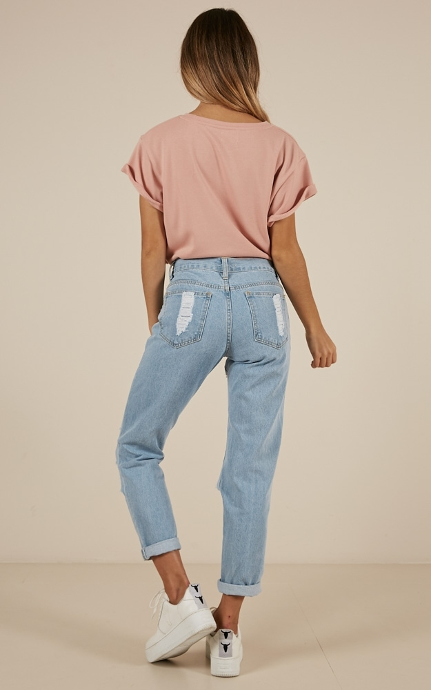 Hailey ripped jeans in light wash denim -14 (XL), Blue, hi-res image number null
