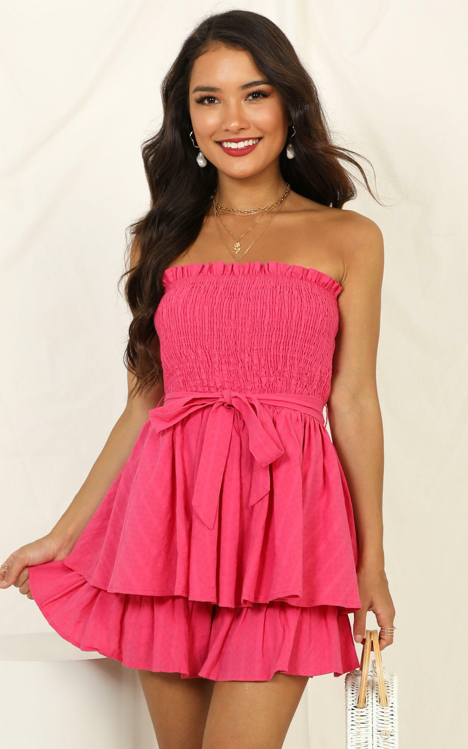 Mutual Love Playsuit in hot pink - 14 (XL), Pink, hi-res image number null