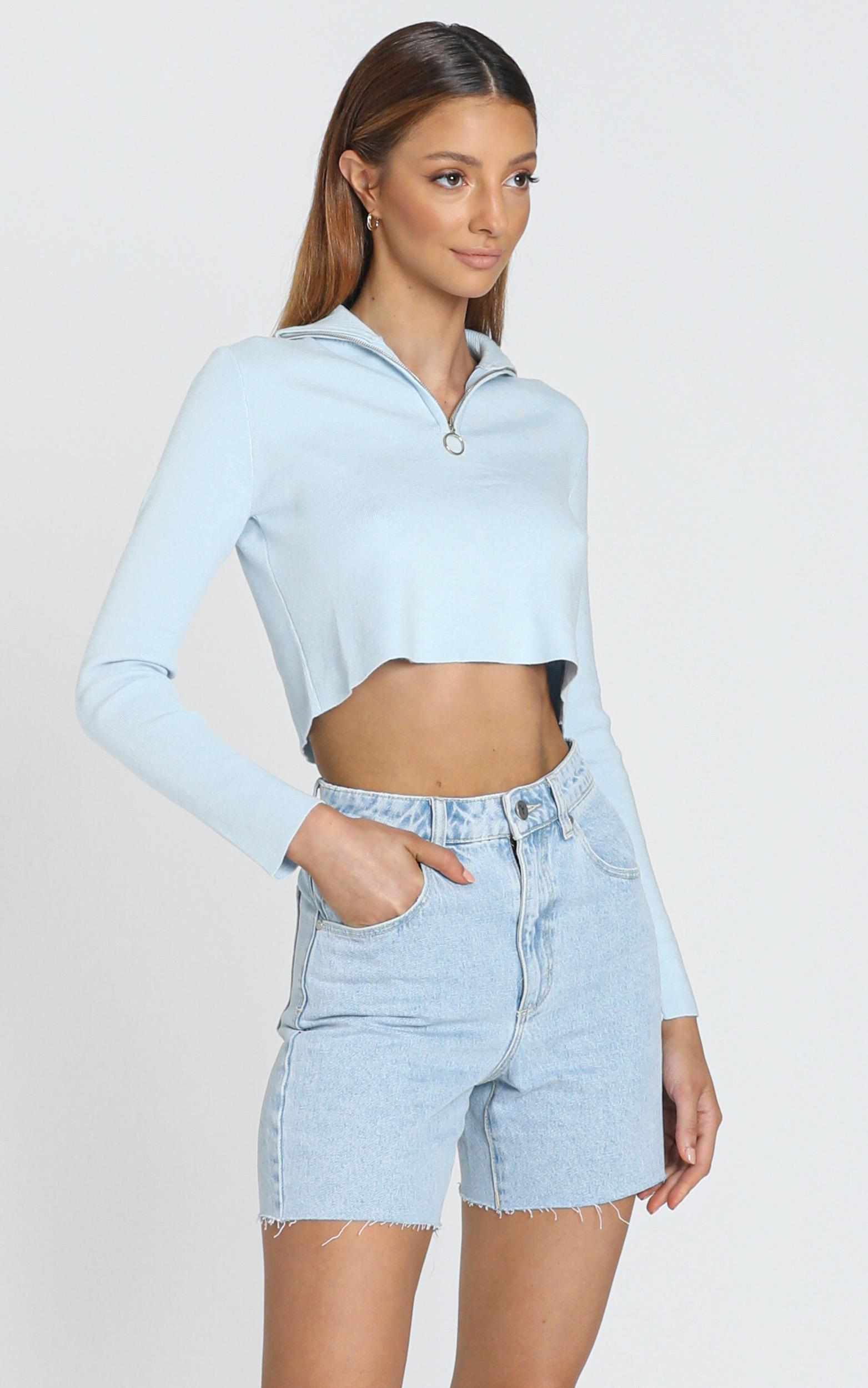 Tatiana Knit Top in Blue - XS/S, Blue, hi-res image number null