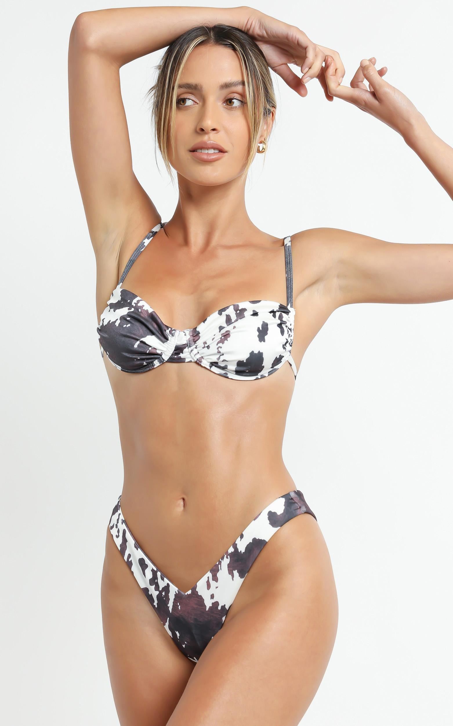 Lioness - The Pia Bikini in Cow - XS, Brown, hi-res image number null
