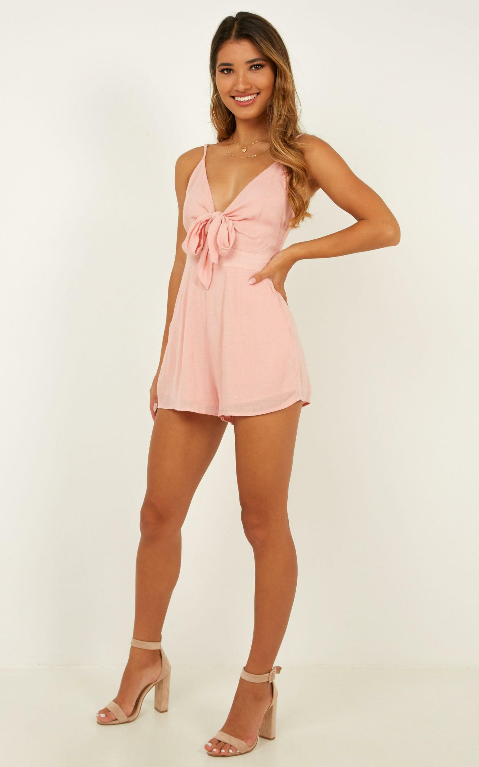 Tricky Love Playsuit in blush - 18 (XXXL), Blush, hi-res image number null