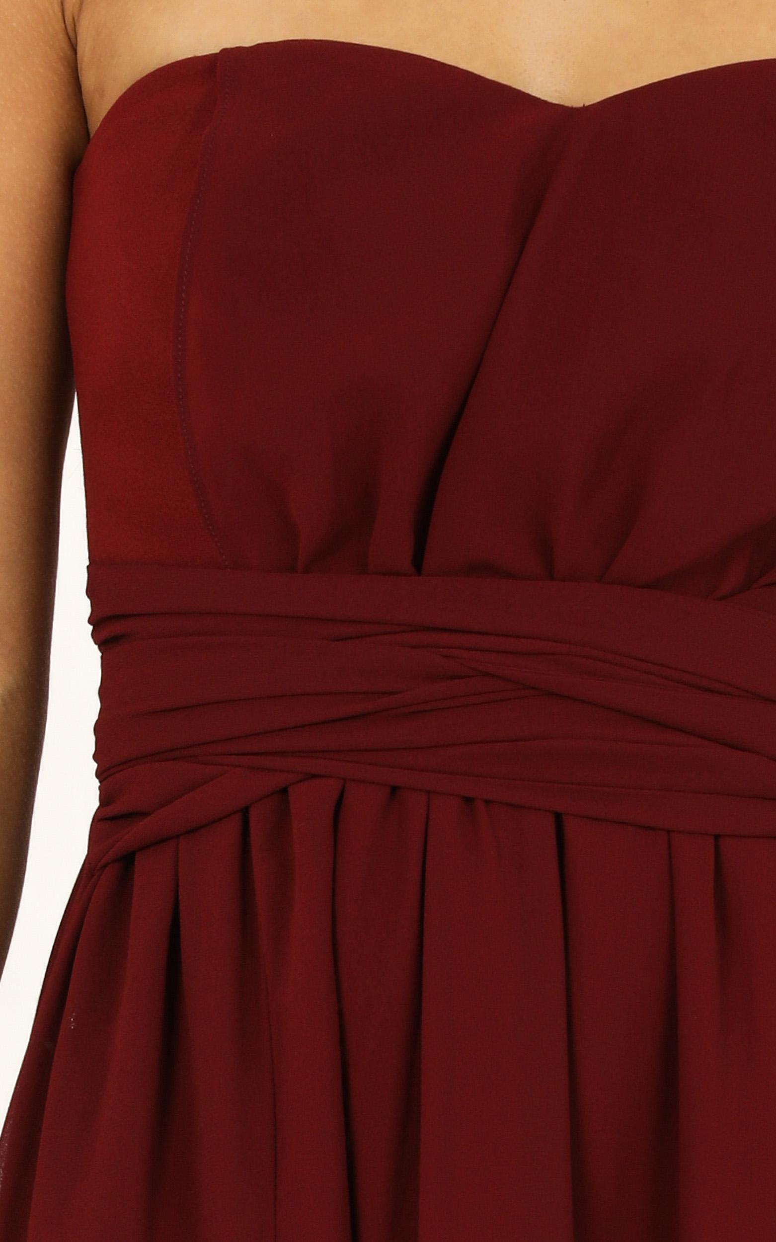 Never tied down dress in wine - 12 (L), Wine, hi-res image number null