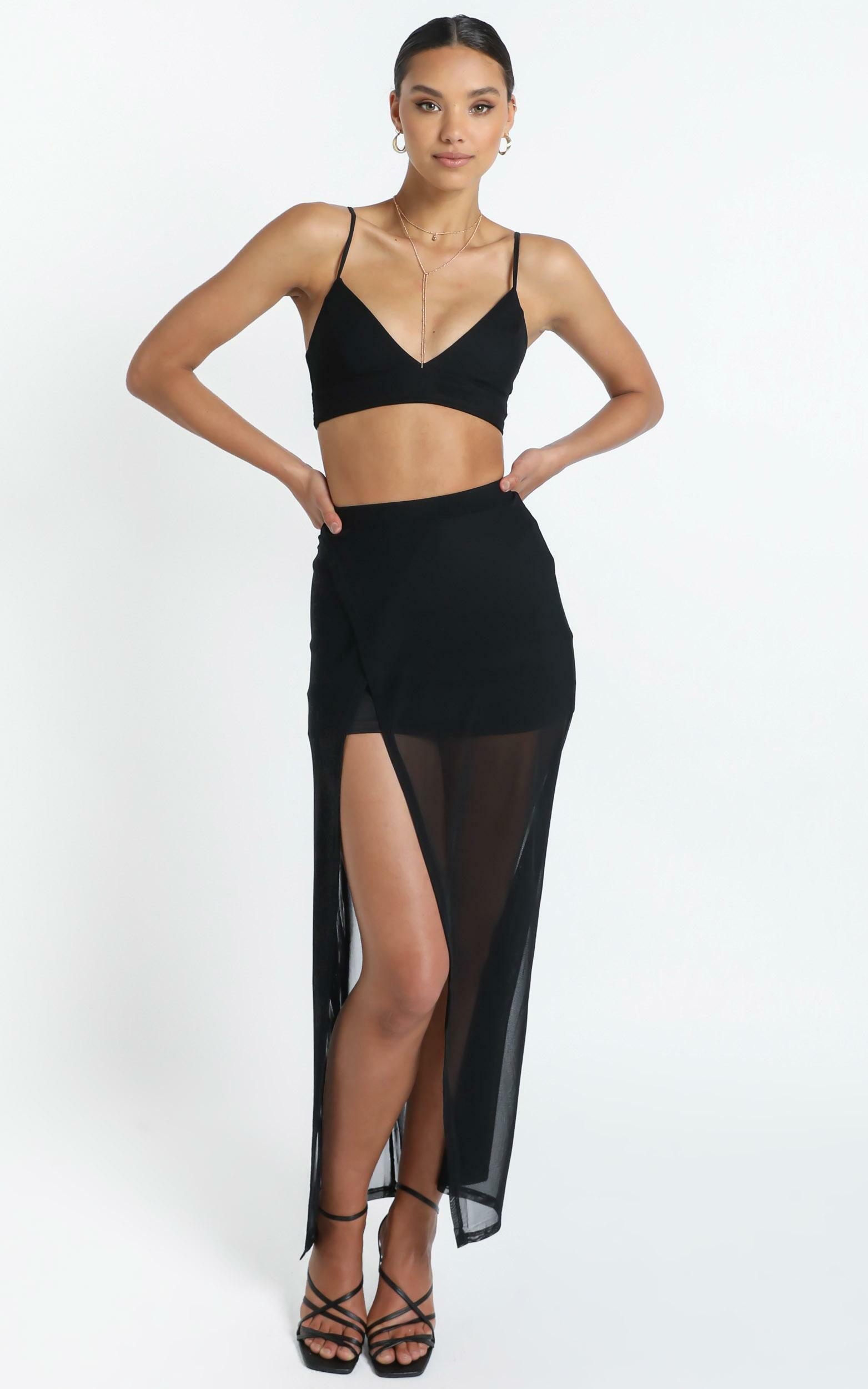 Body Language two piece set in black - 6 (XS), Black, hi-res image number null