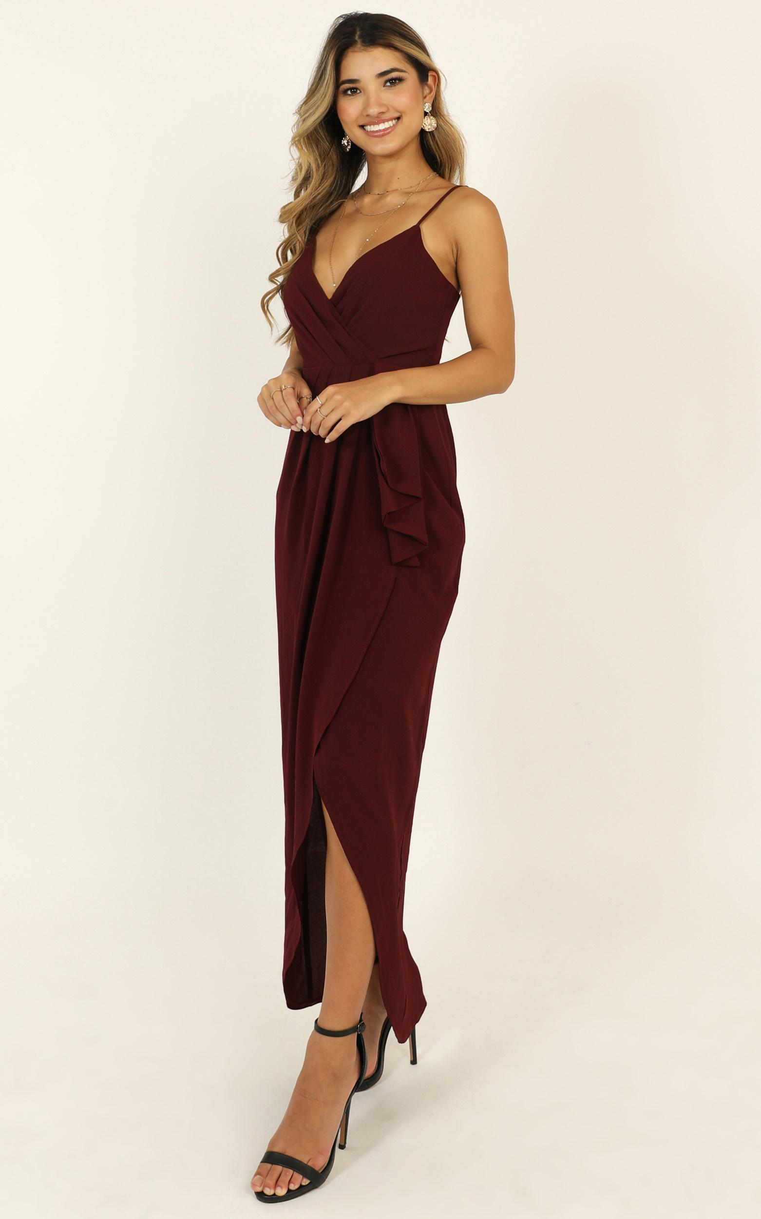Gave Me You Dress in wine - 20 (XXXXL), Wine, hi-res image number null