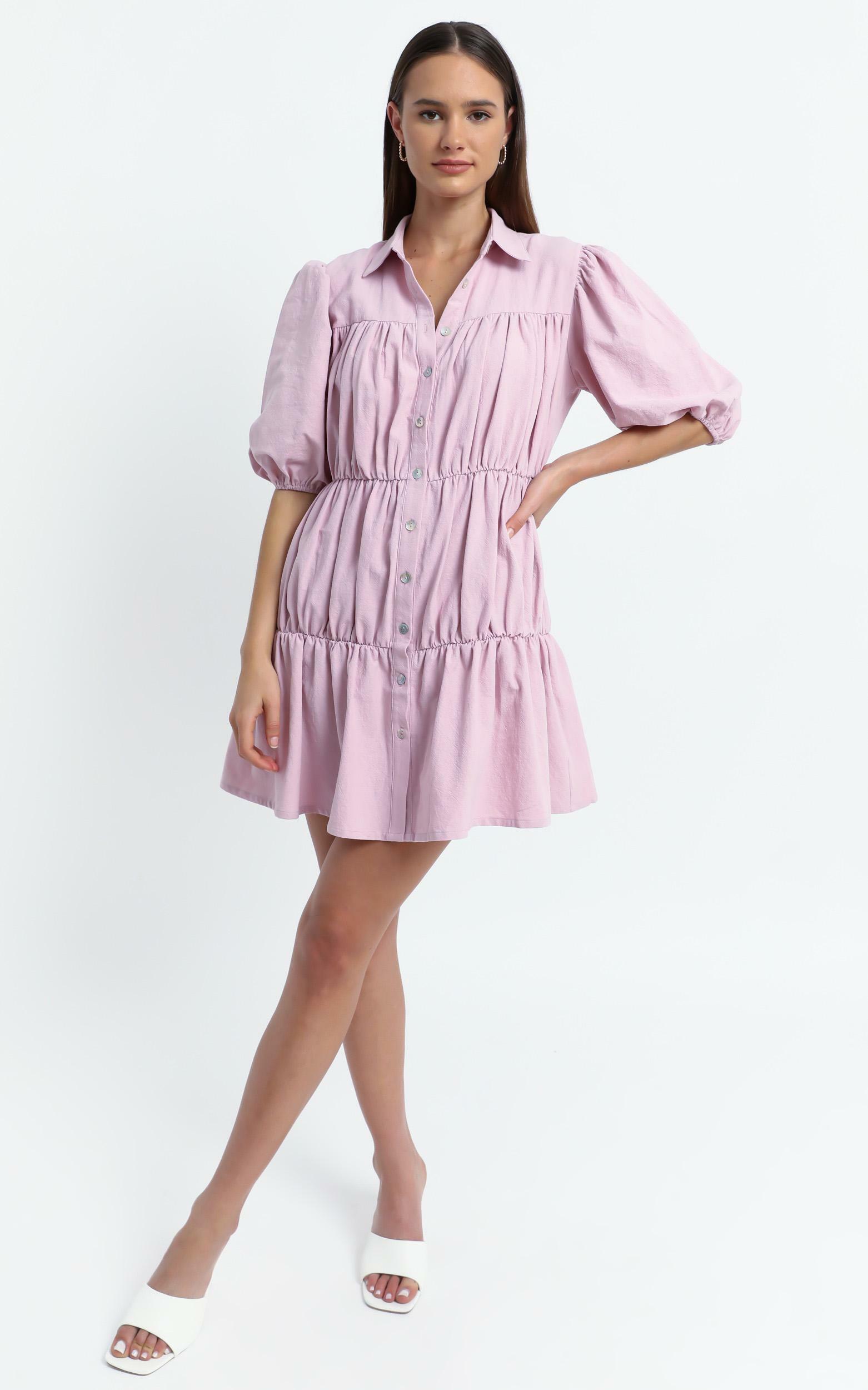 Bijou Dress in Pink - 6 (XS), Pink, hi-res image number null