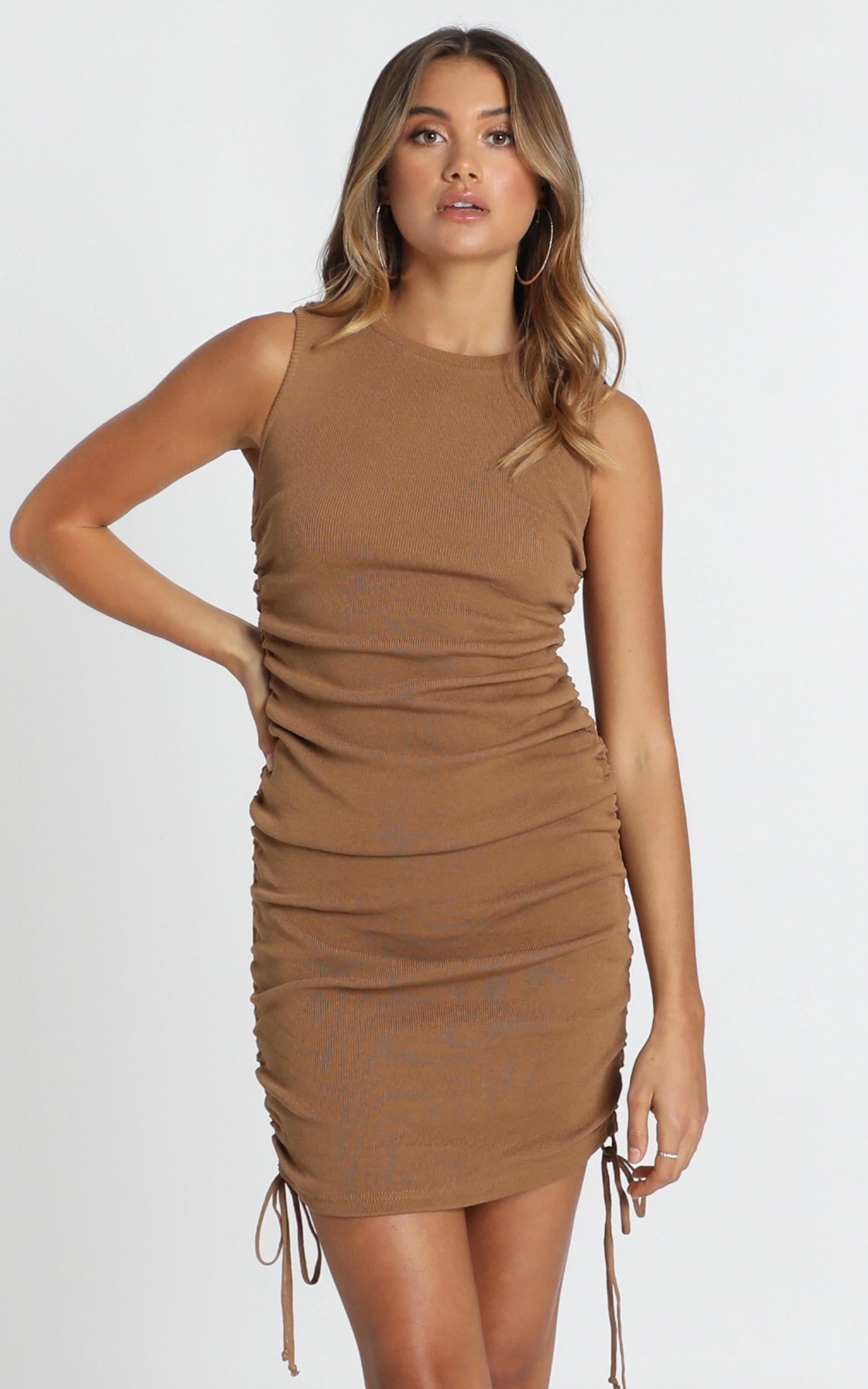 Lioness - Military Minds dress in tan - 12 (L), Tan, hi-res image number null