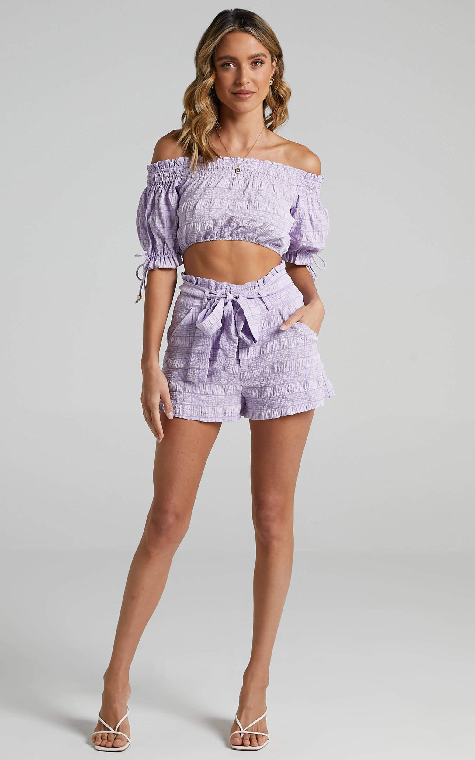 Emilienne Two Piece Set in Lilac Check - 06, PRP2, hi-res image number null